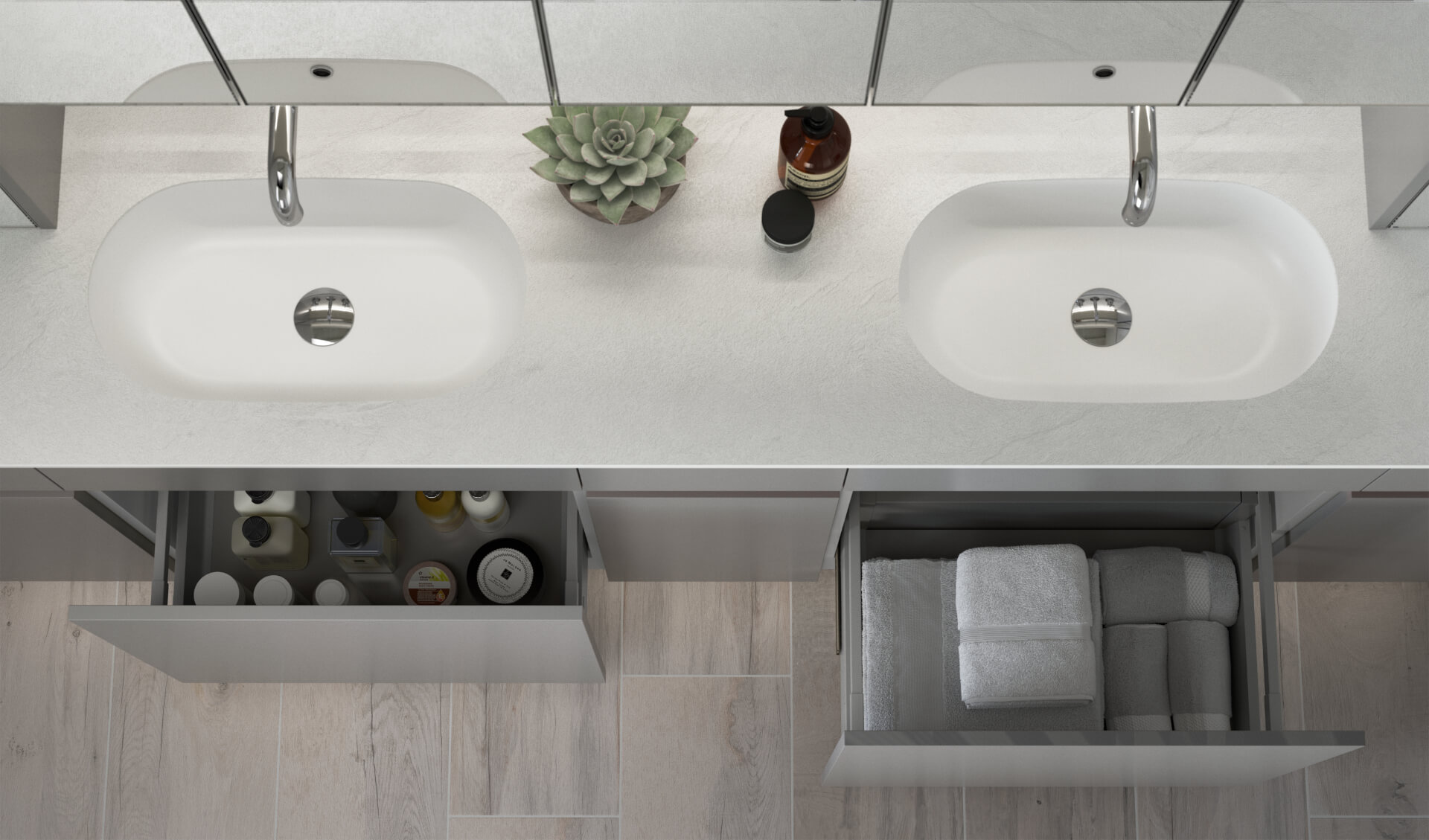 Utopia Bathroom Contemporary Fitted Bathroom Drawers