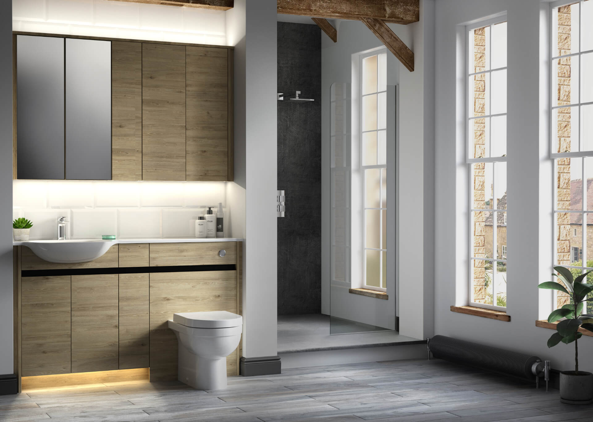 Utopia Bathroom Contemporary Fitted Wooden Bathroom