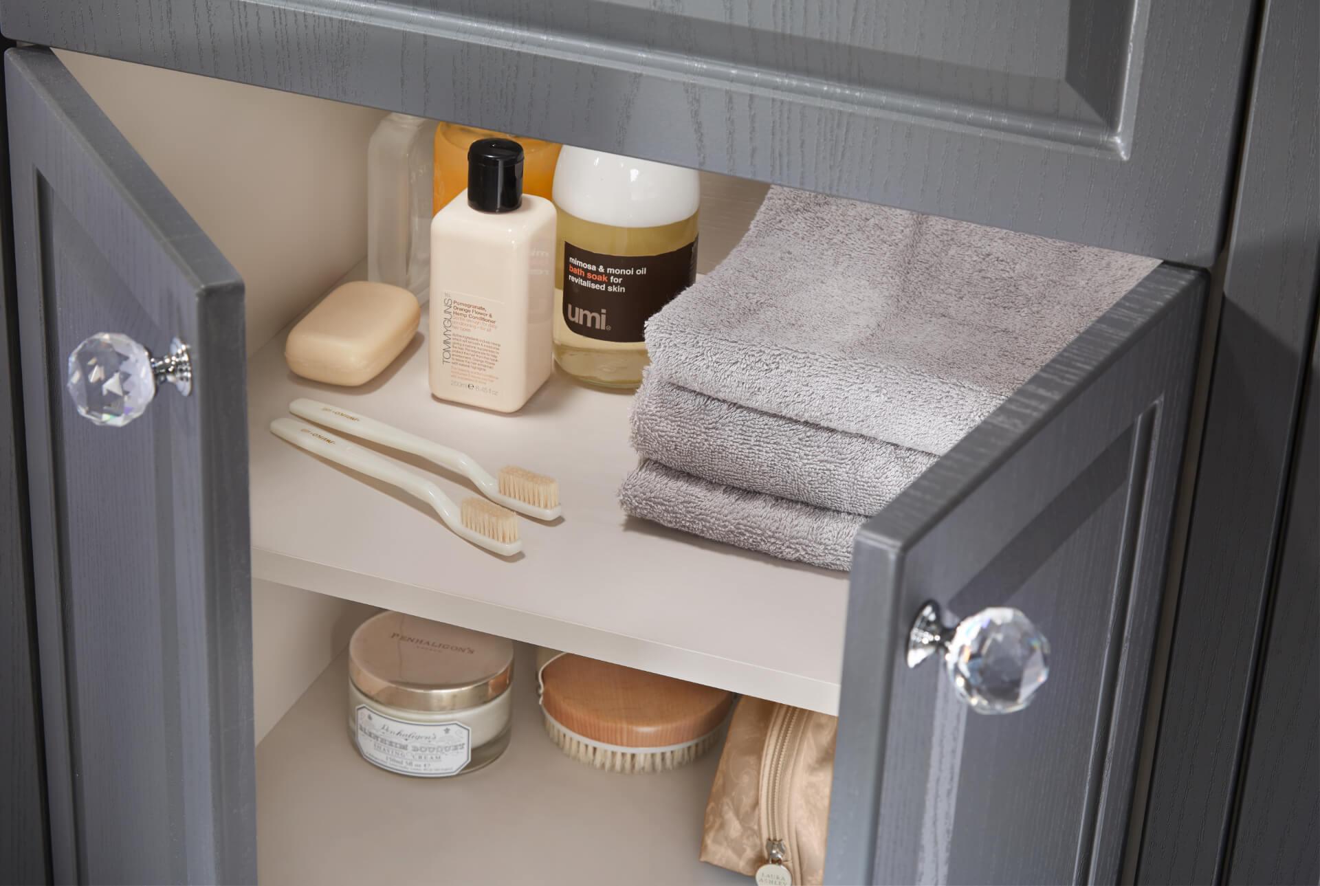 Utopia Bathroom Downton Grey Cabinet