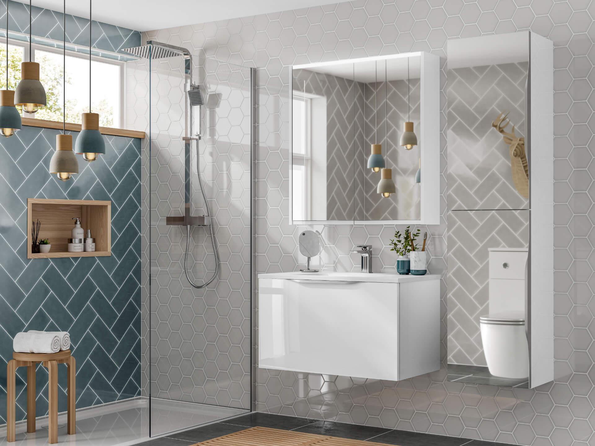Utopia Bathroom Halo White Bahtroom