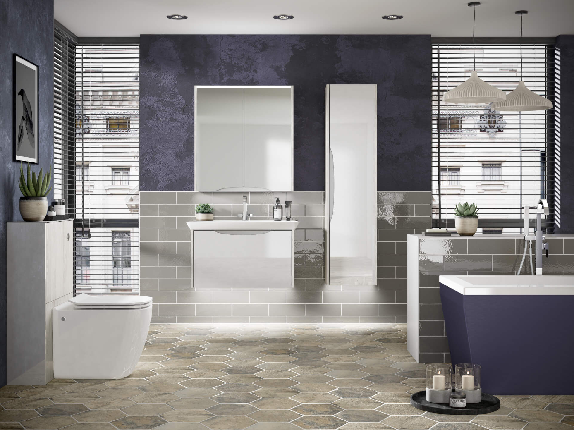 Utopia Bathroom Lustre Grey Bathroom