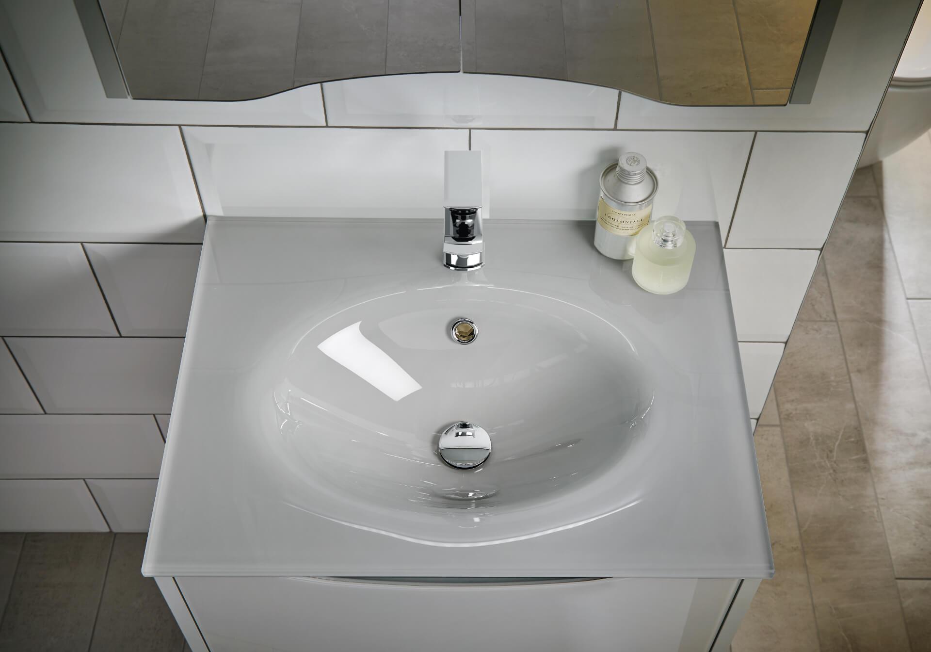 Utopia Bathroom Lustre Whte Sink Unit