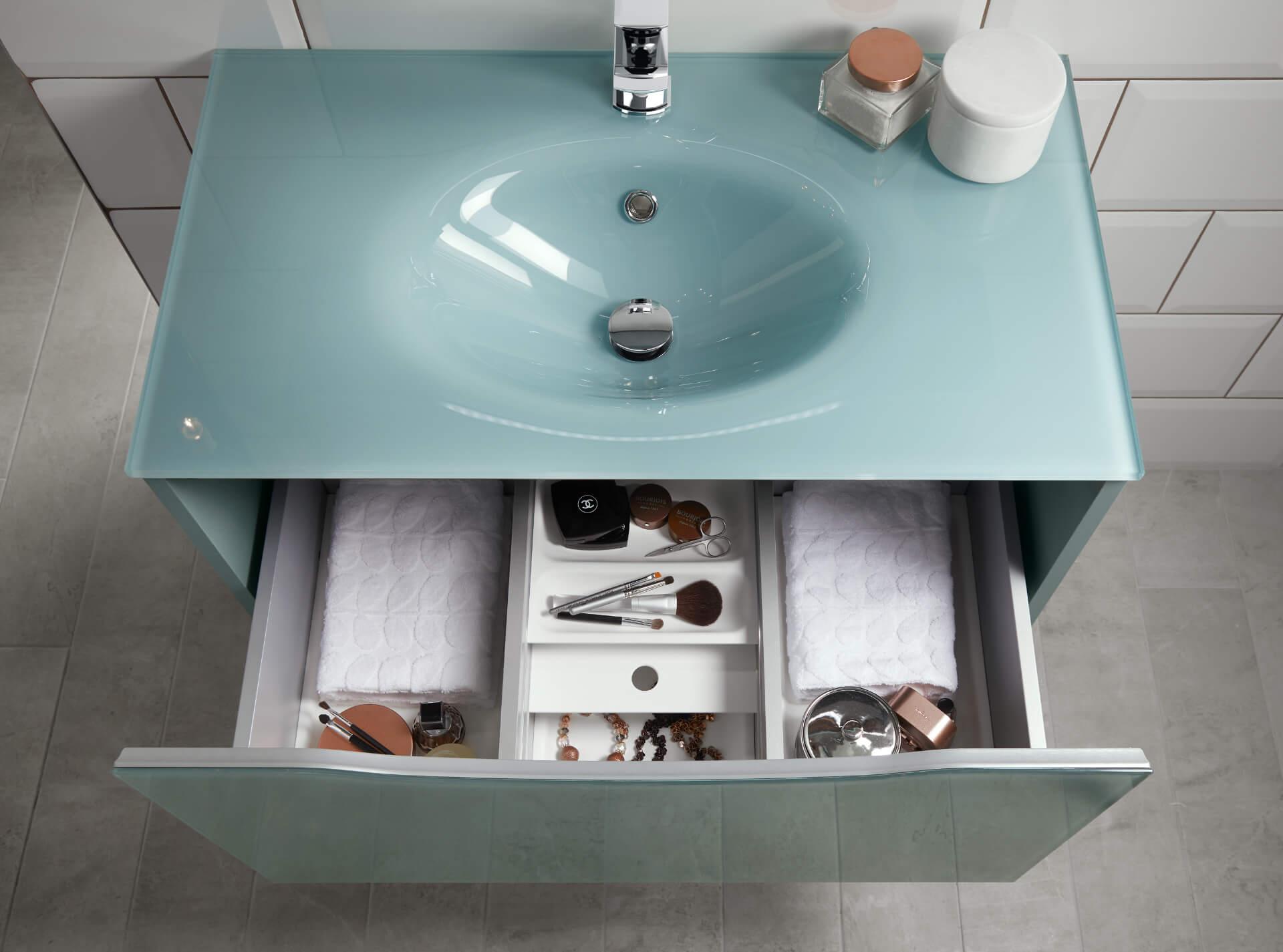 Utopia Bathroom Lustre Grey Mint Drawer