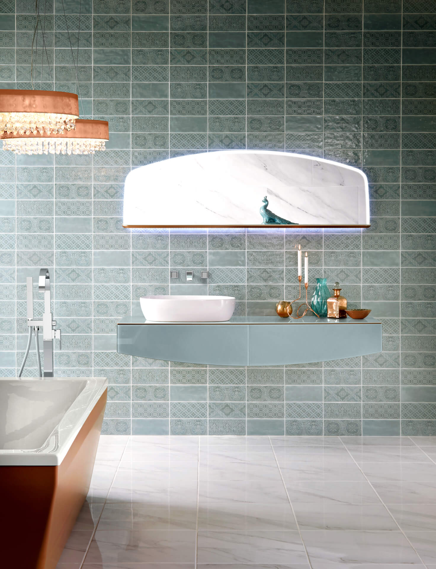 Utopia Bathroom Opula Mint Cabinet