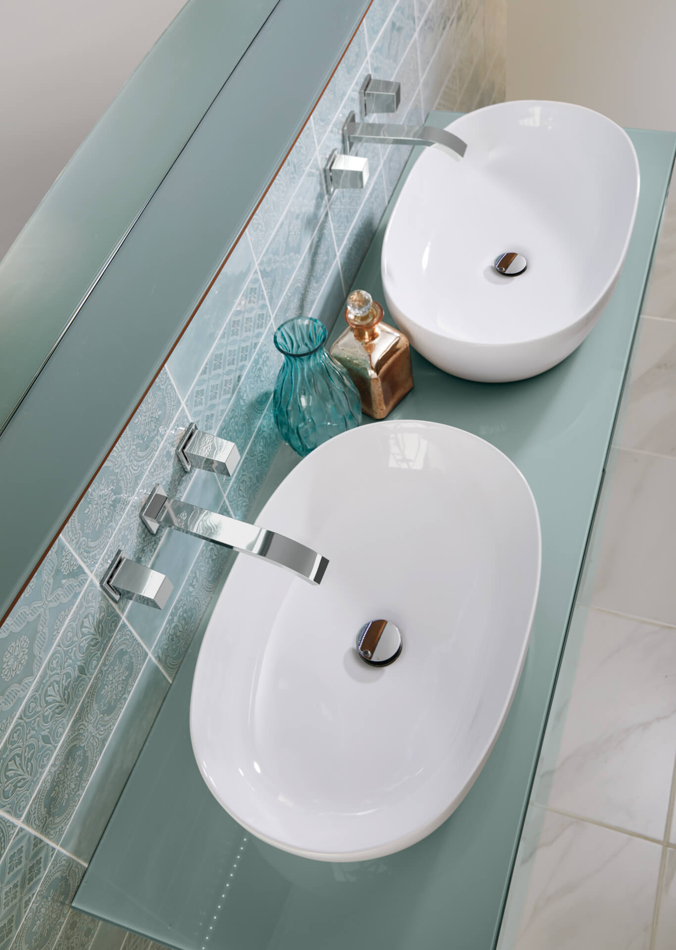 Utopia Bathroom Opula Mint Sink Unit