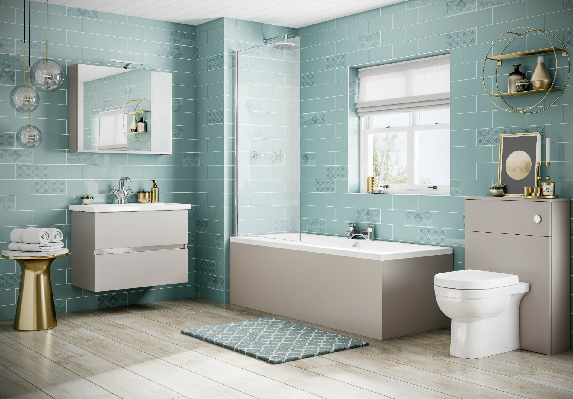 Utopia Bathroom Qube White Bathroom