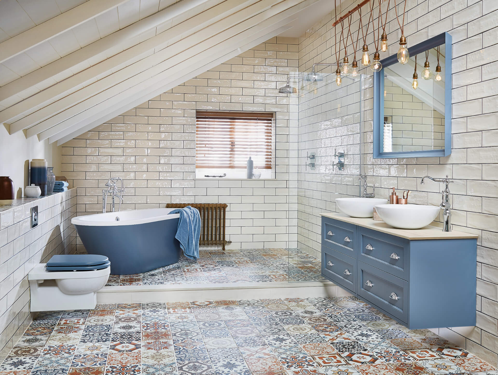 Utopia Bathroom Roseberry Blue Bathroom