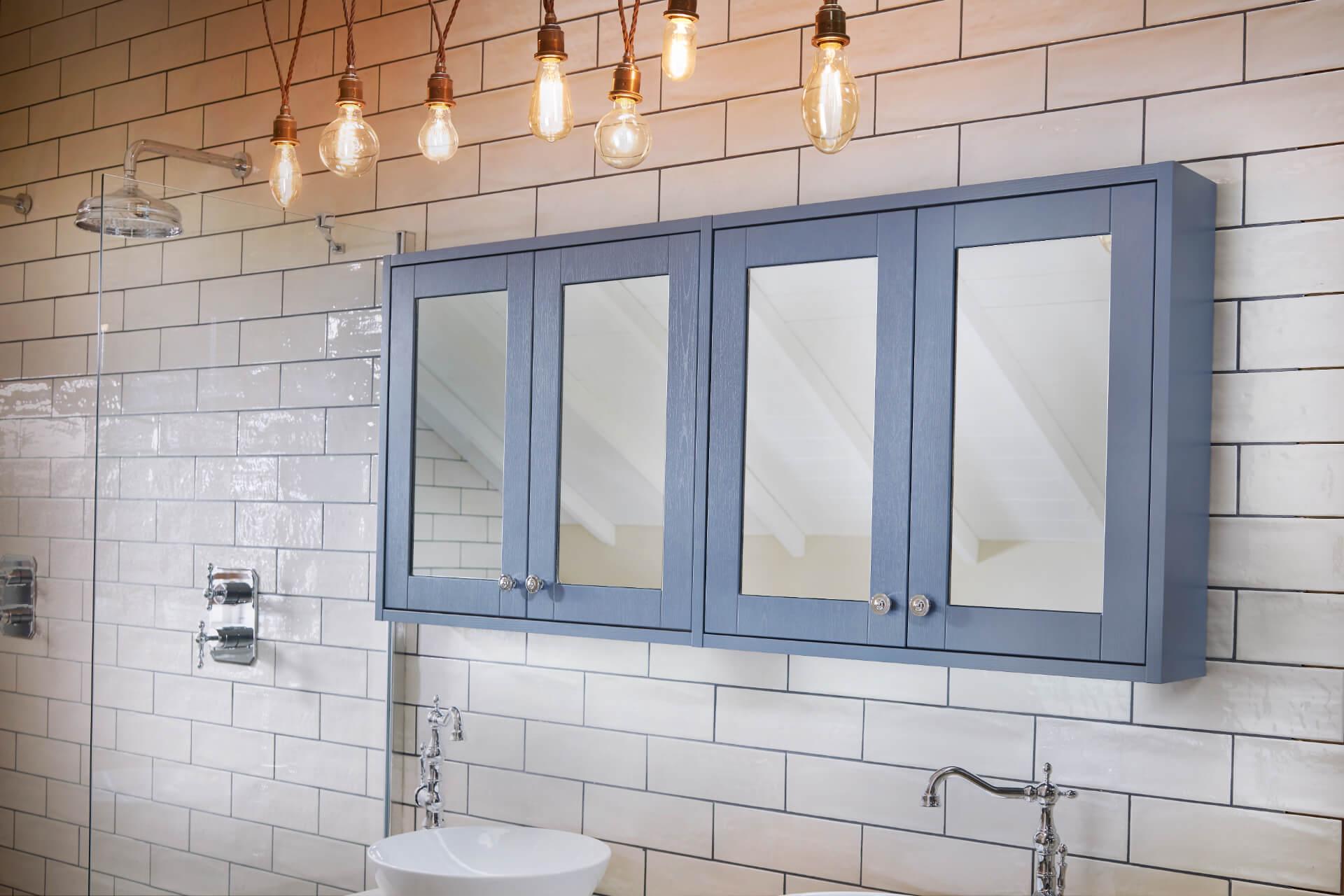 Utopia Bathroom Qube Blue Cabinet