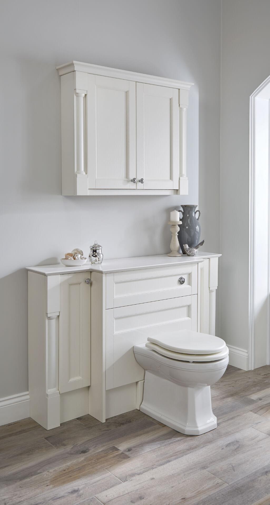Utopia Bathroom Qube White Toilet Unit