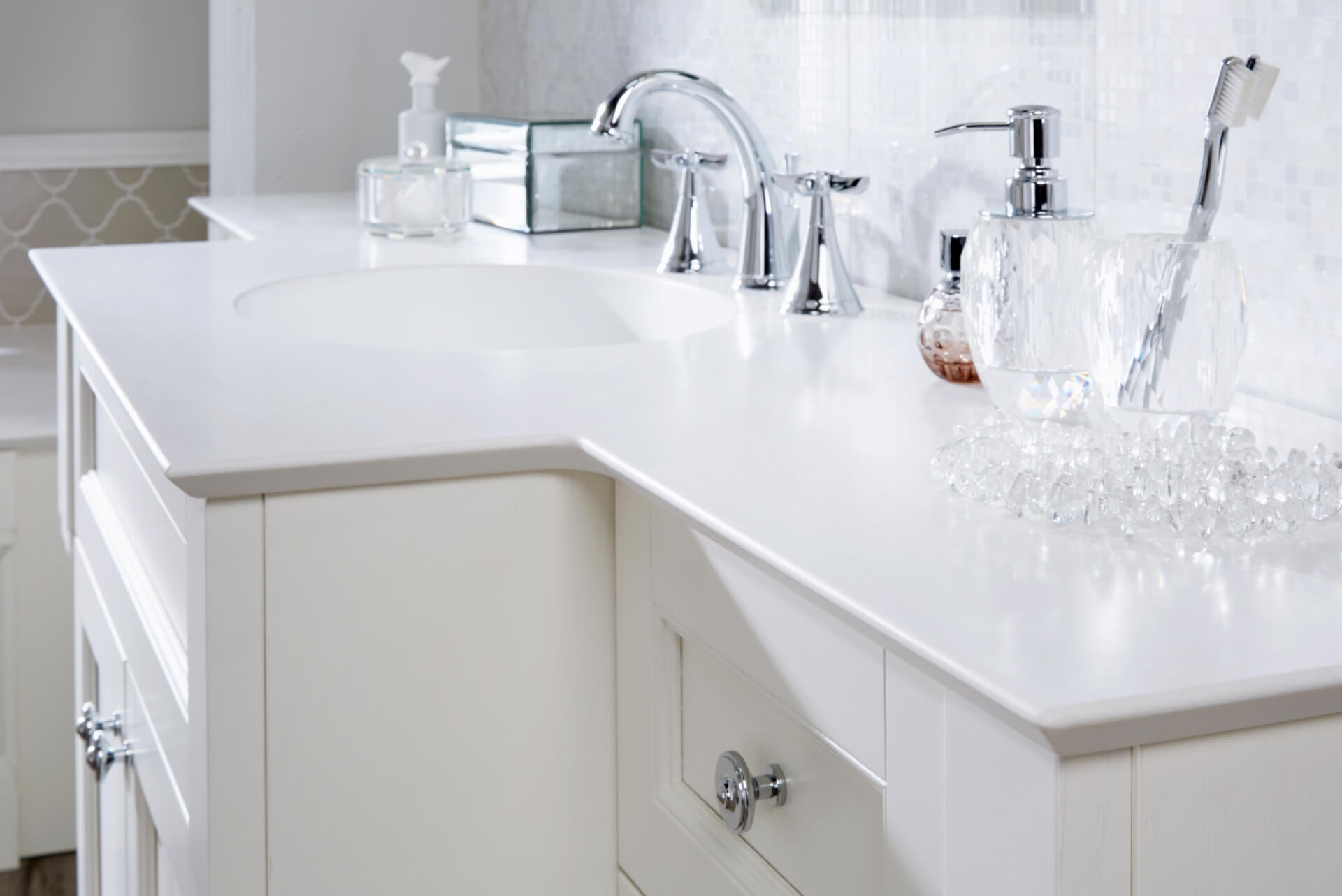Utopia Bathroom Qube White Sink Unit