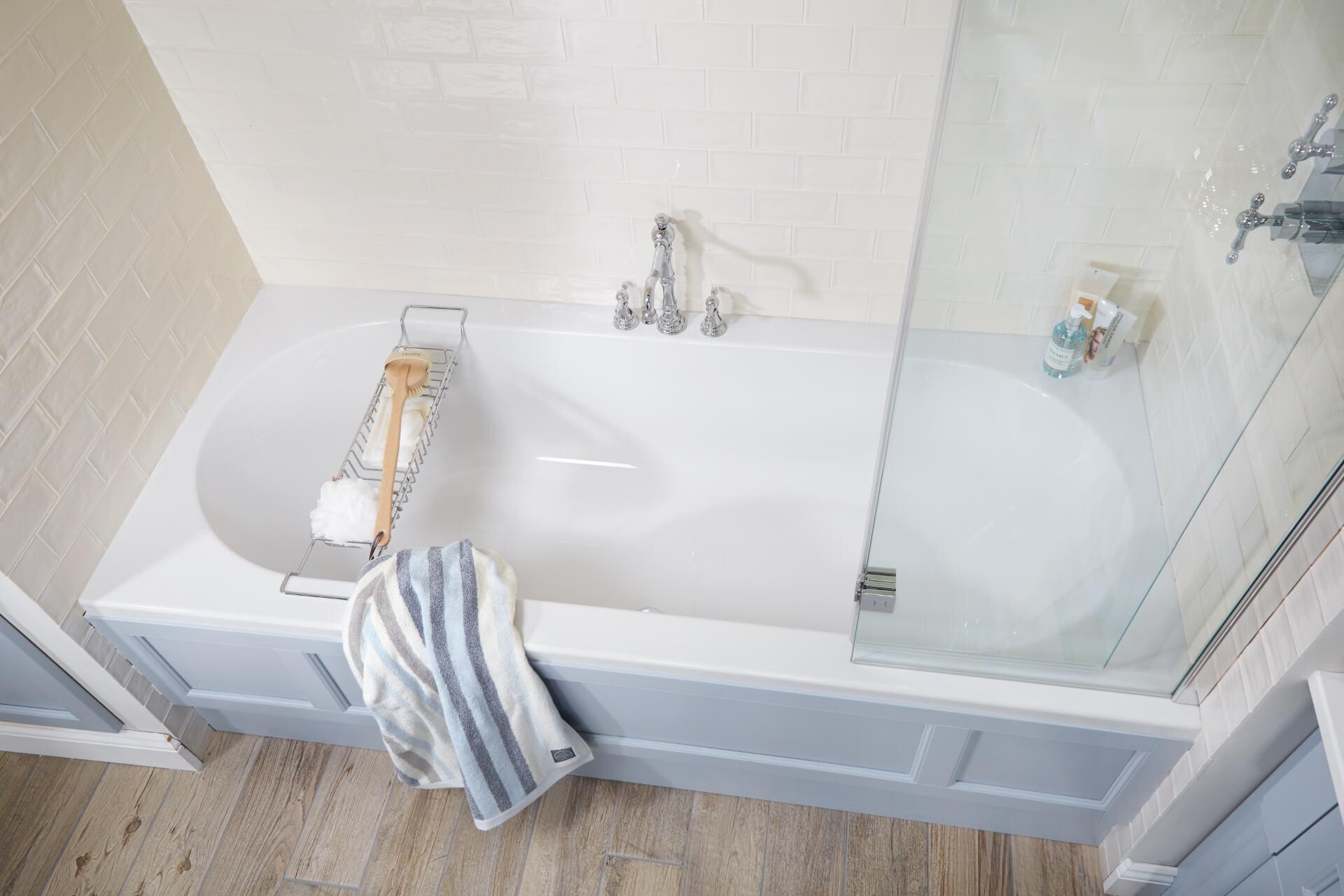 Utopia Bathroom Qube Blue Bath Unit