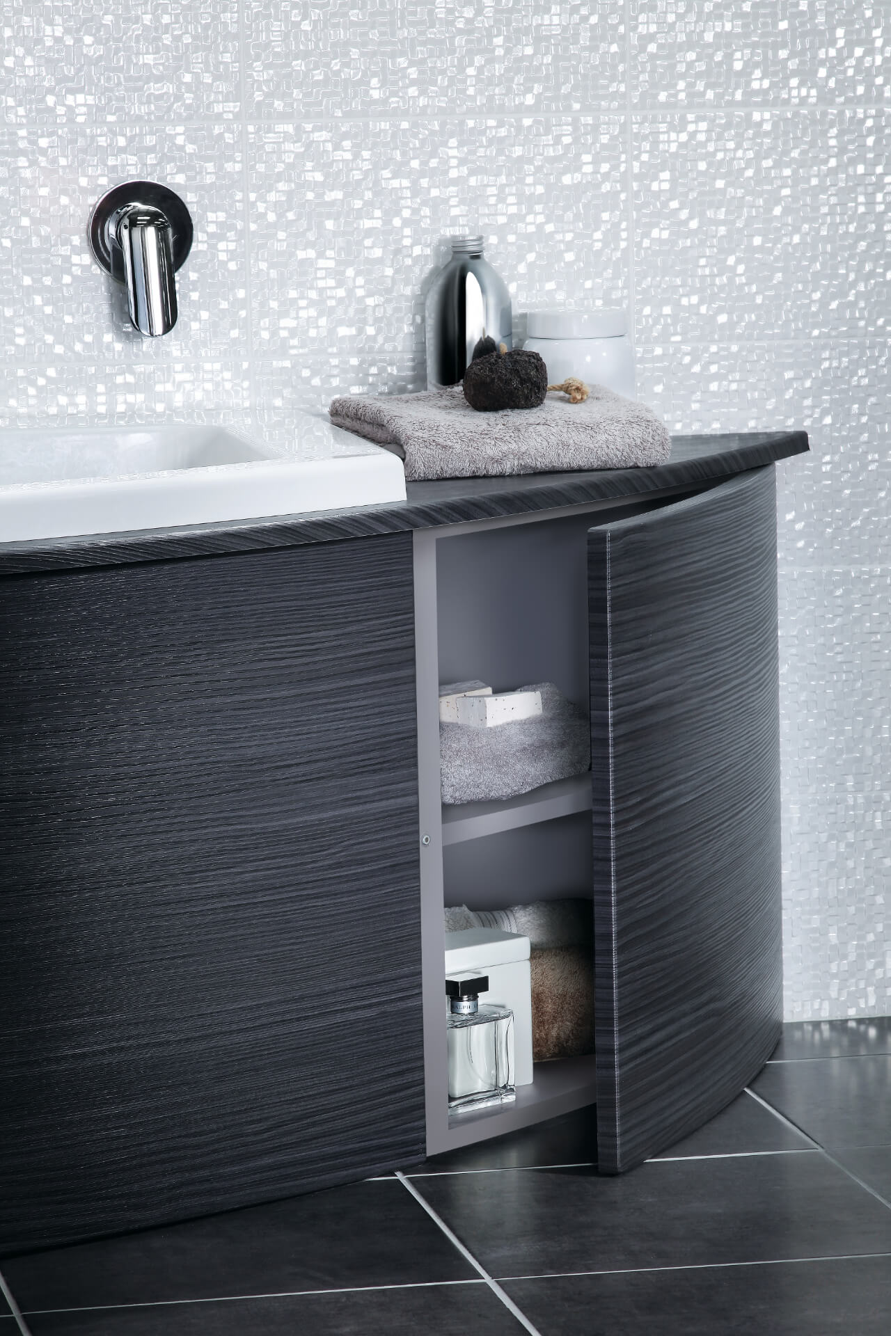Utopia Bathroom Symmetry Black Cabinet