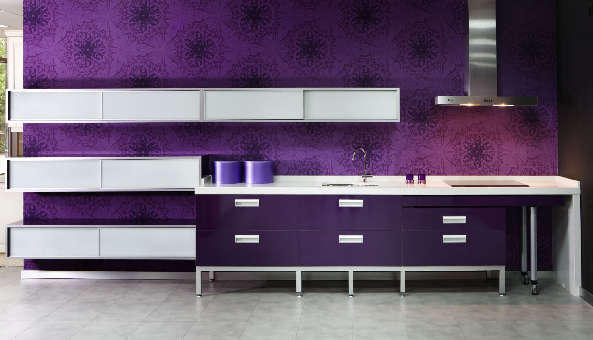 Cosentino Silestone Purple Kitchen