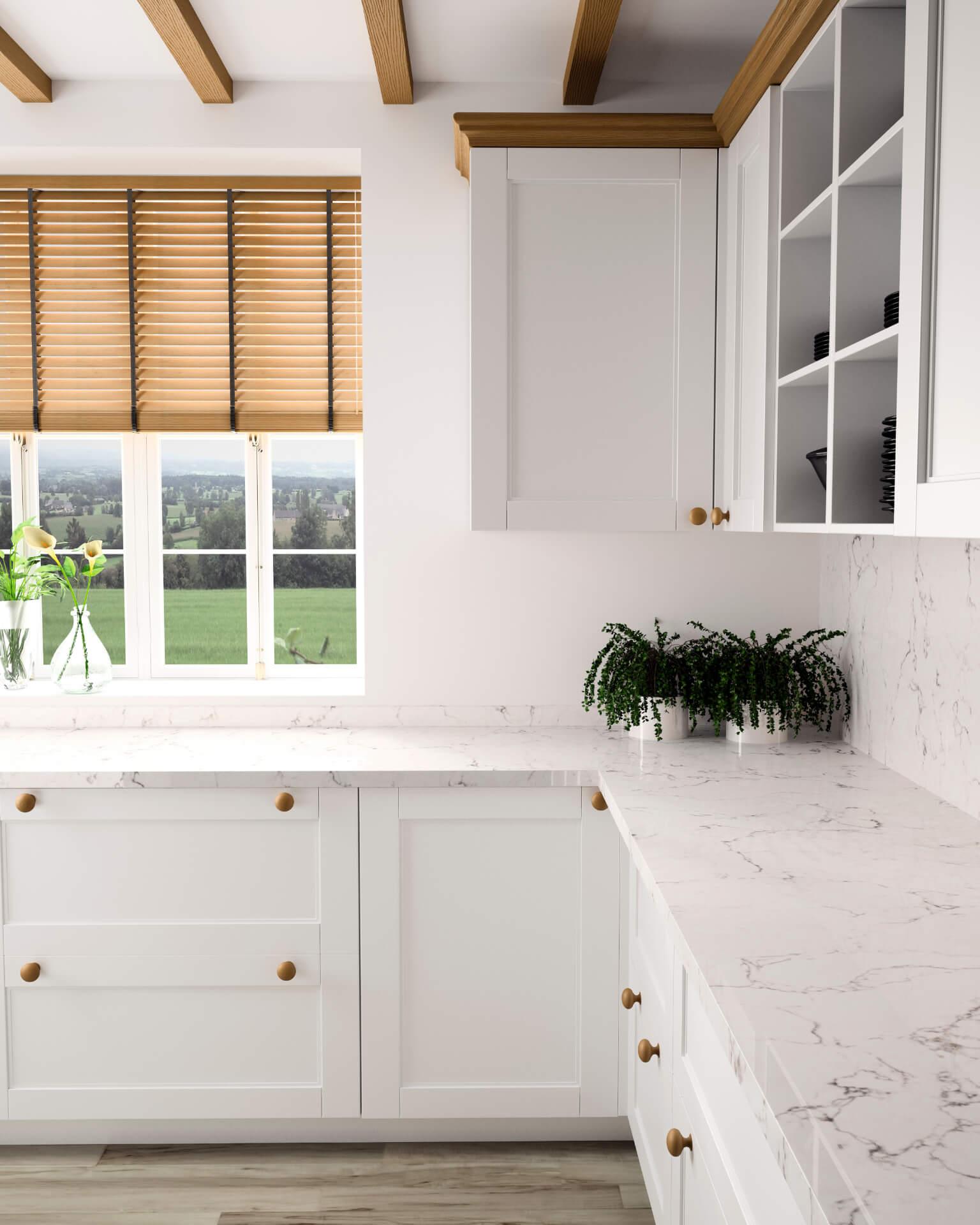 Cosentino Silestone White Kitchen
