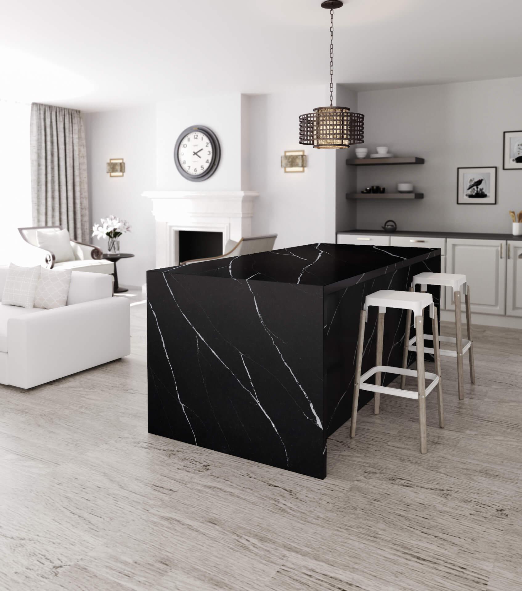 Cosentino Silestone Marble Black Kitchen