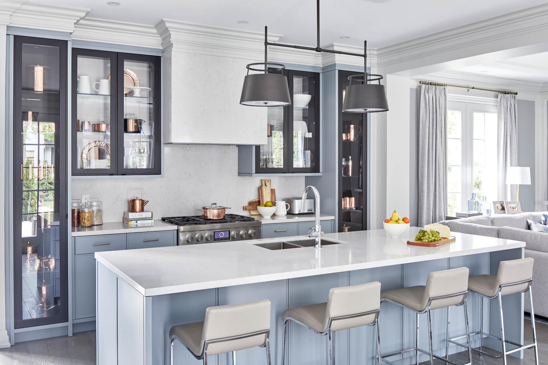 Cosentino Silestone Blue Kitchen
