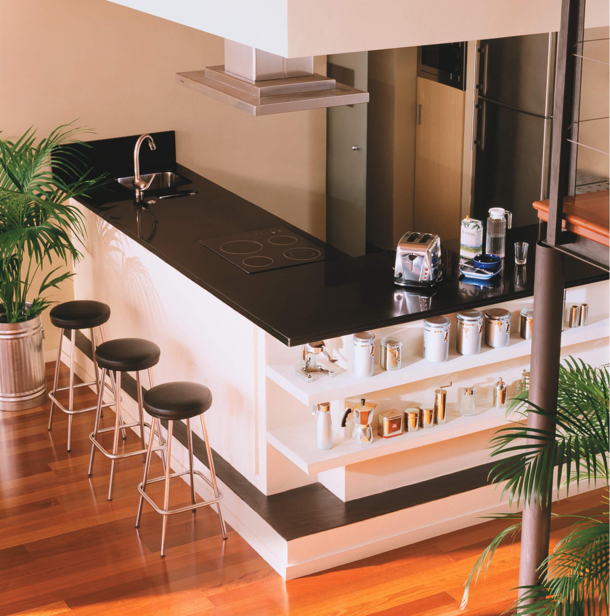 Cosentino Silestone White Kitchen Bar