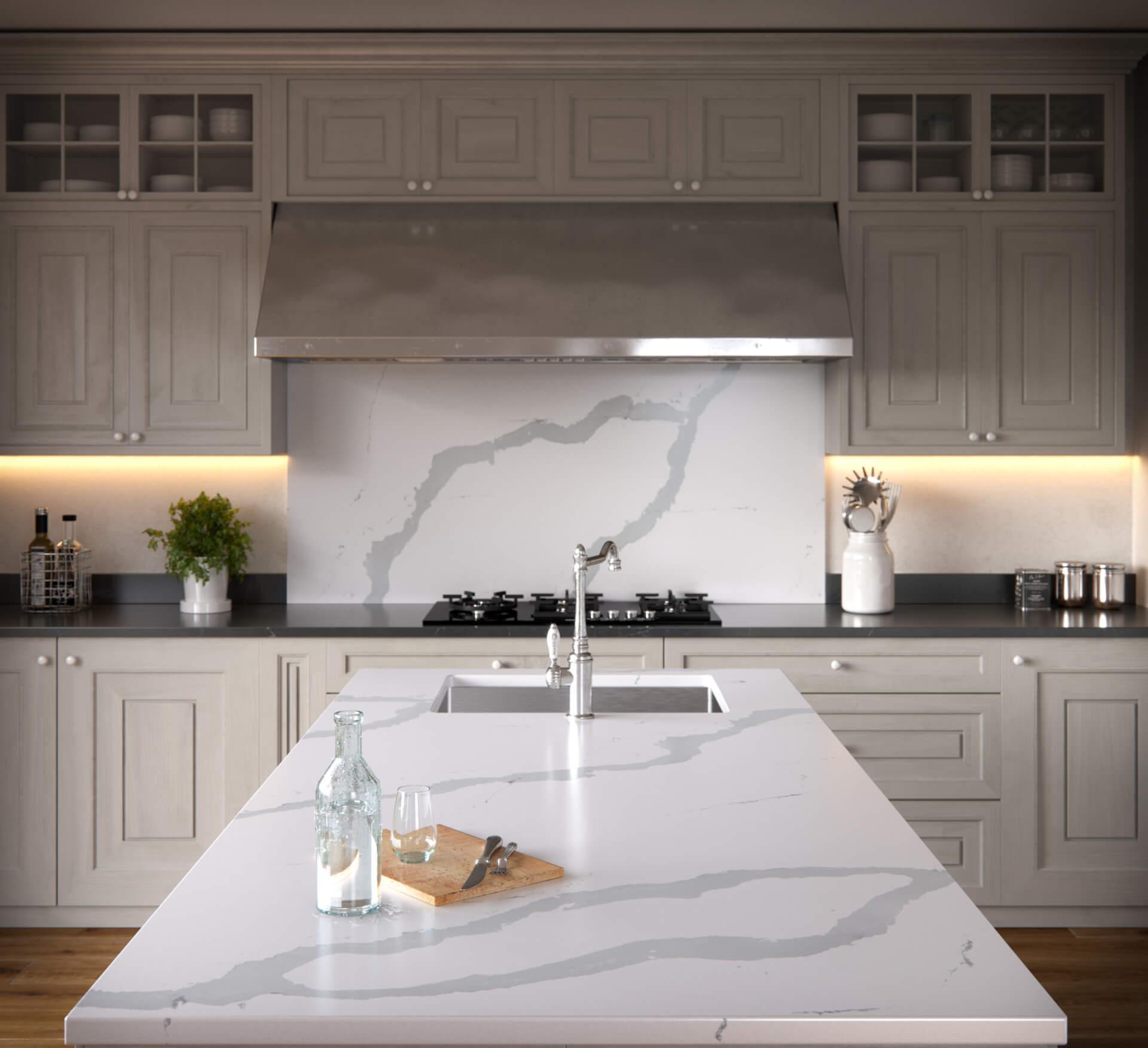 Cosentino Silestone Marble White Kitchen