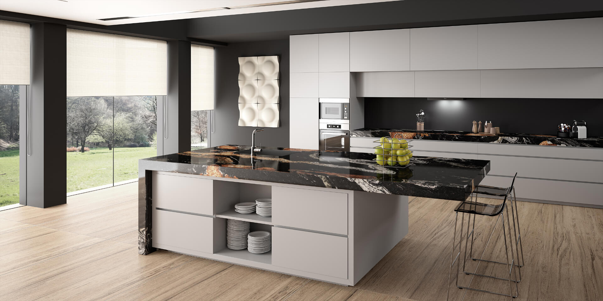 Cosentino Sensa White Kitchen