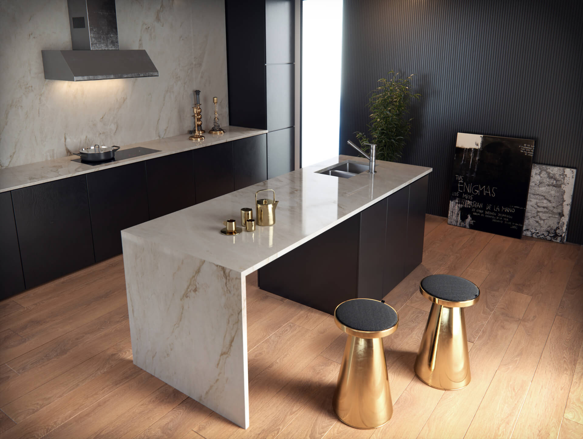 Cosentino Sensa Marble White Kitchen