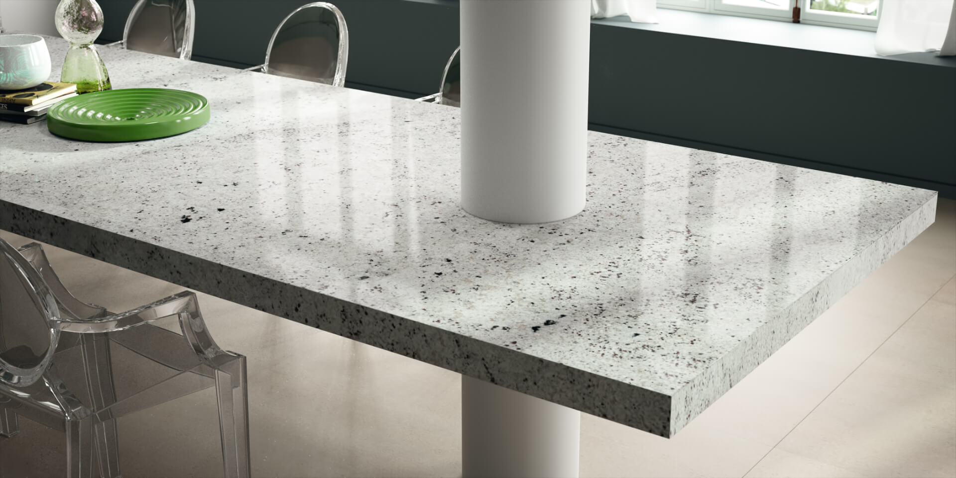 Cosentino Sensa Marble Grey Kitchen Table