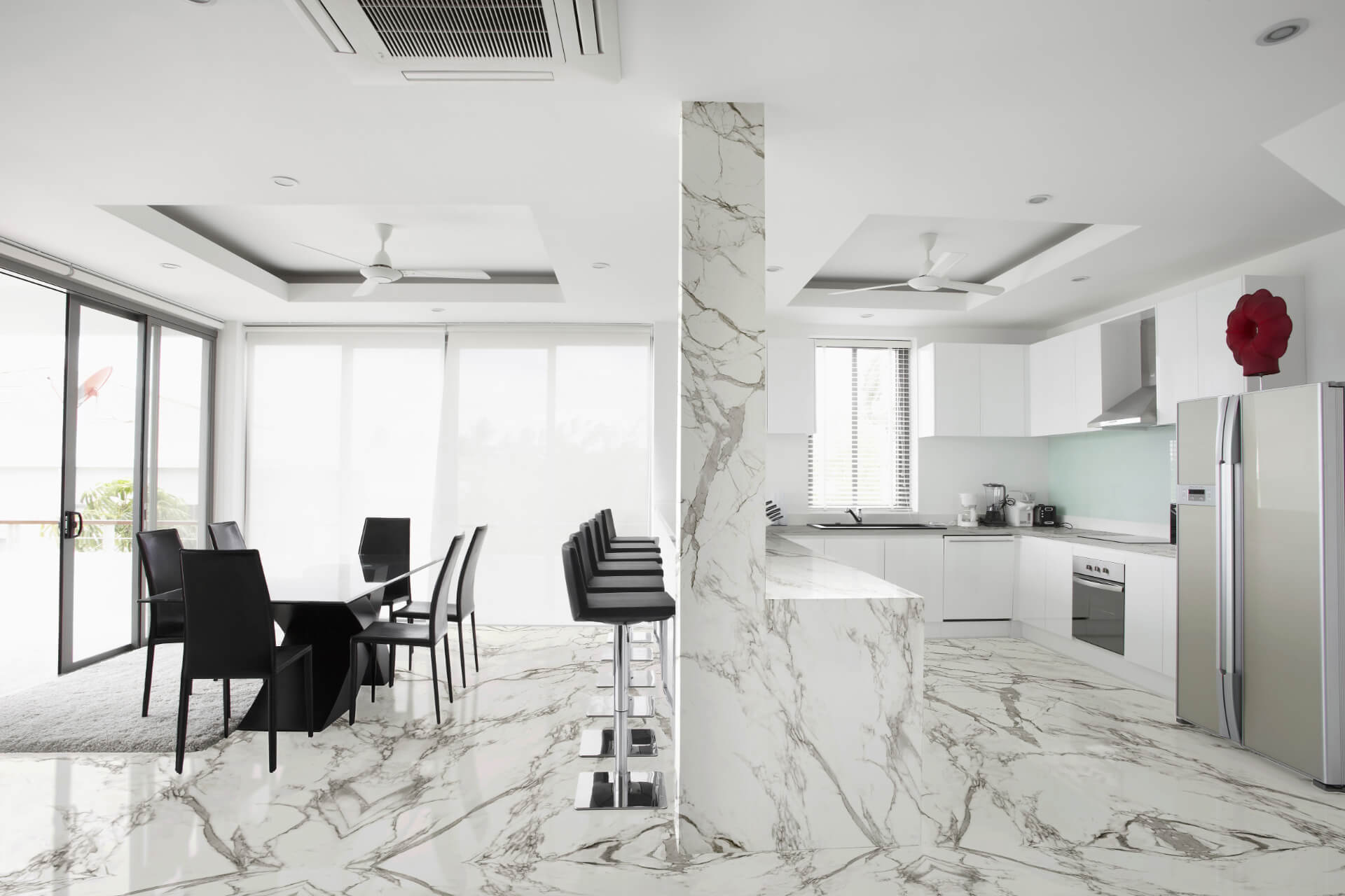 Cosentino Dekton White Marble Kitchen