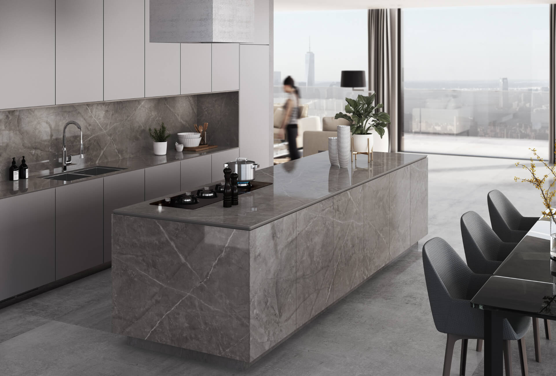 Cosentino Dekton Brown Kitchen