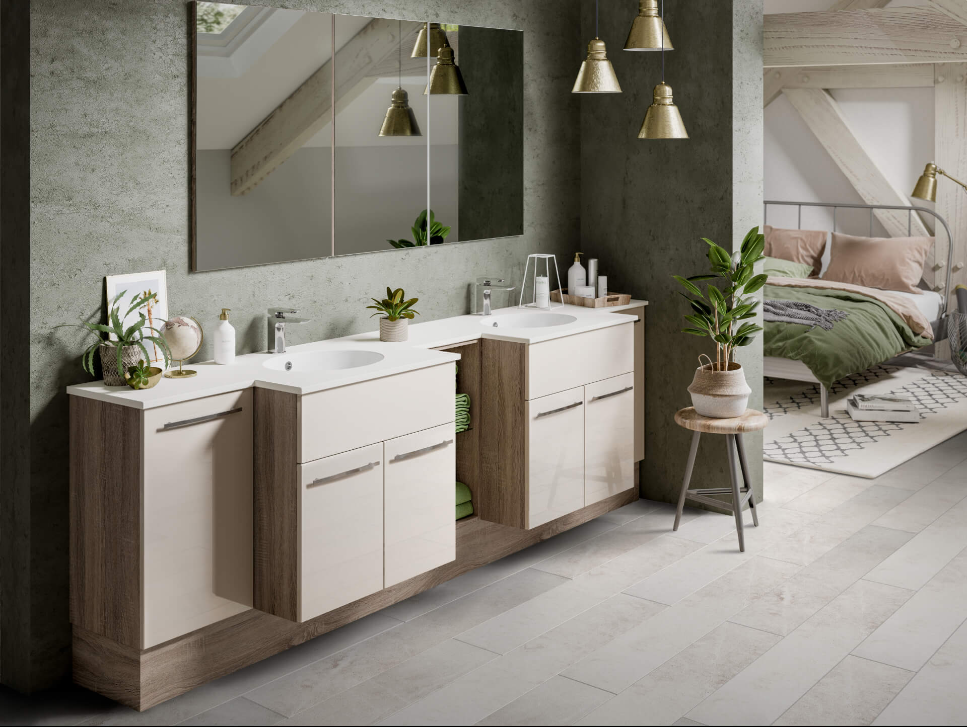 Nolte Original Fitted Ivory Wooden Bathroom