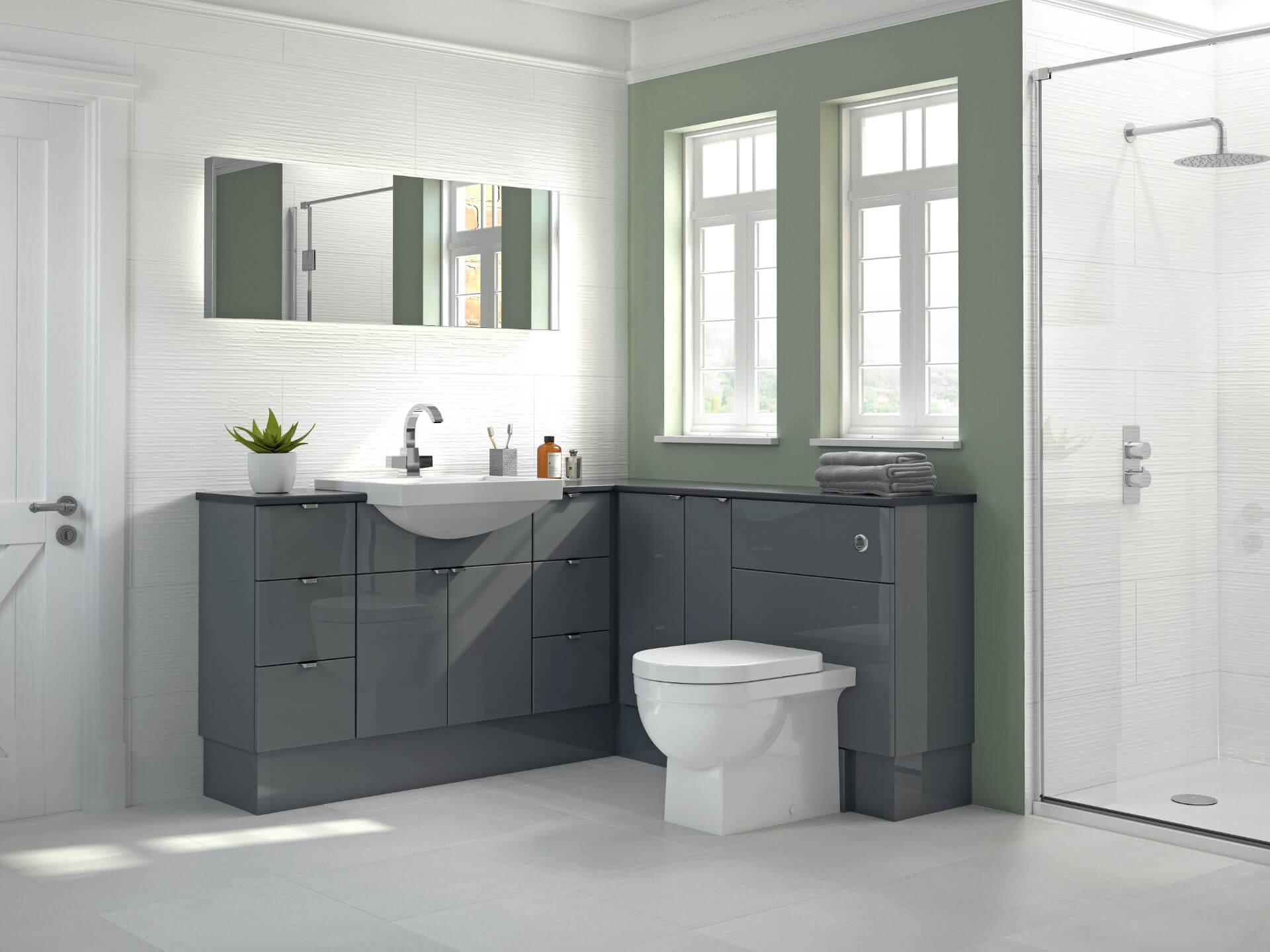 Nolte Original Fitted Grey Bathroom