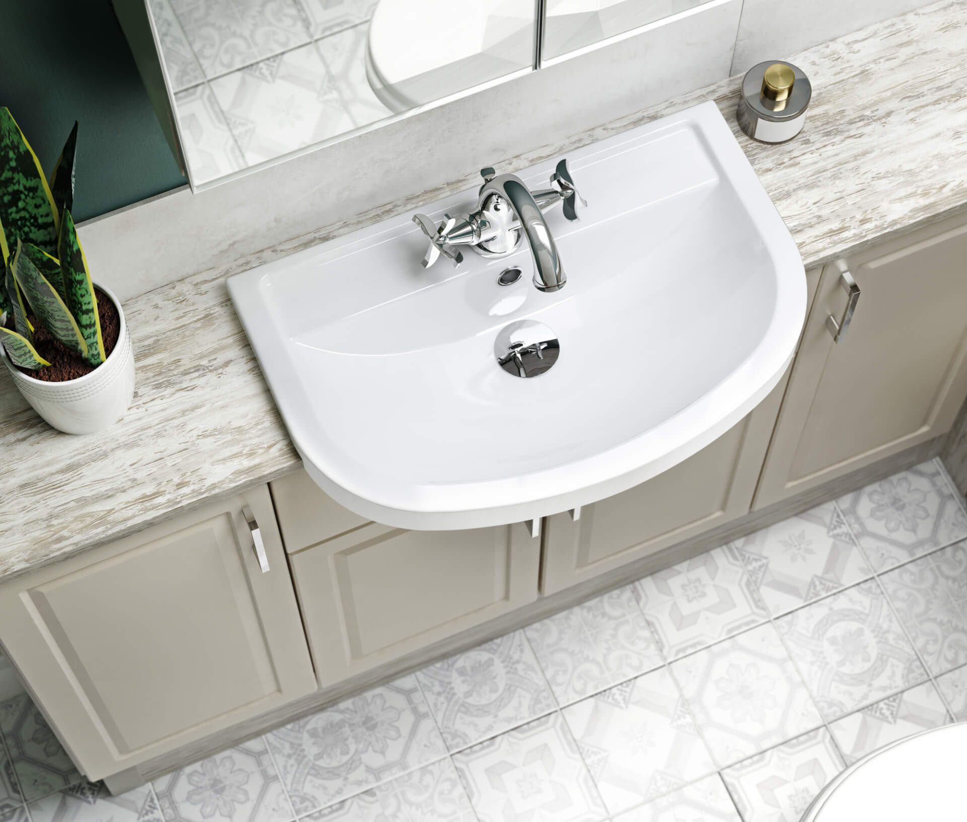 Nolte Original Fitted Ivory Sink Unit