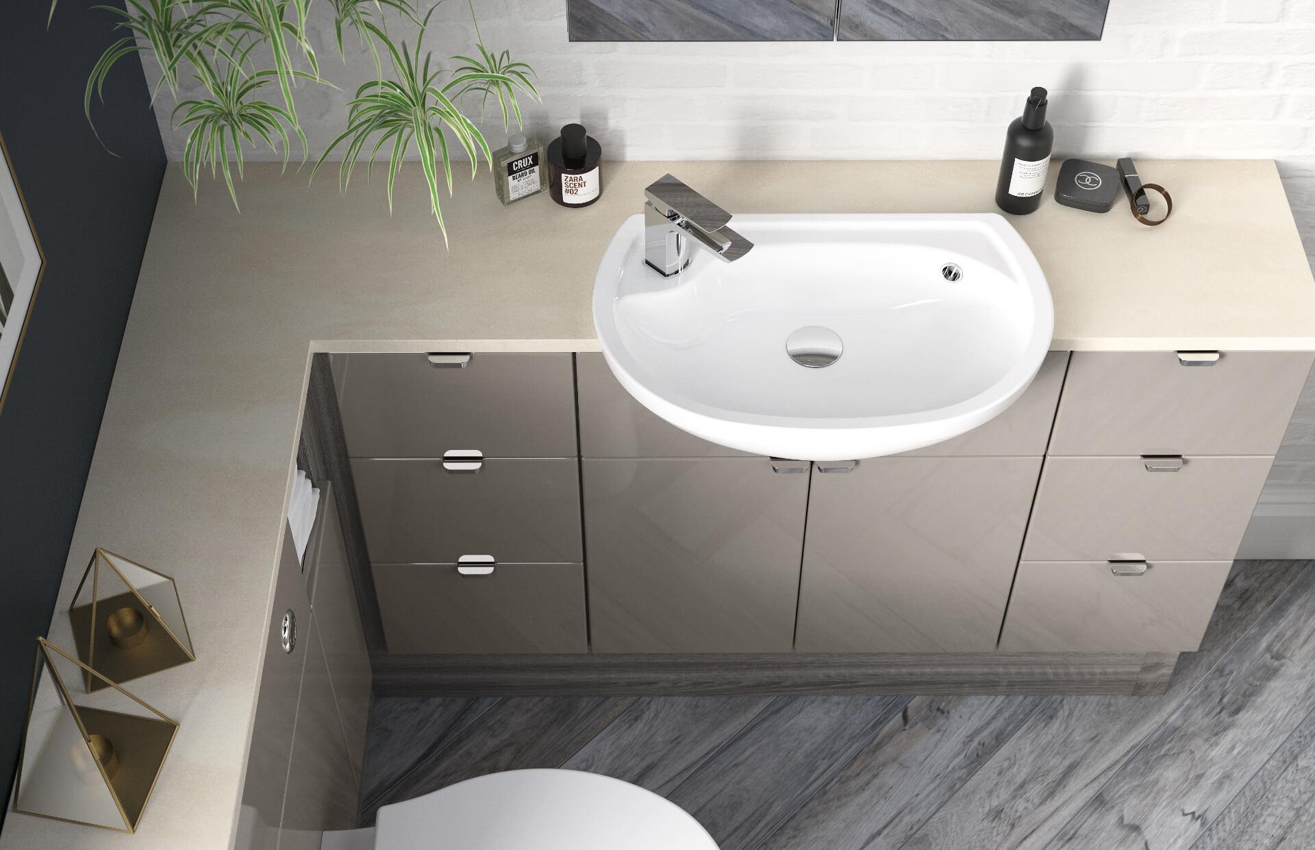 Nolte Original Fitted Grey Sink Unit