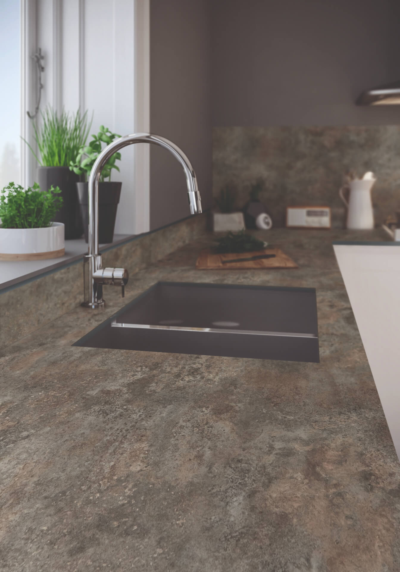 Bushboard Evolve Brown Worktop