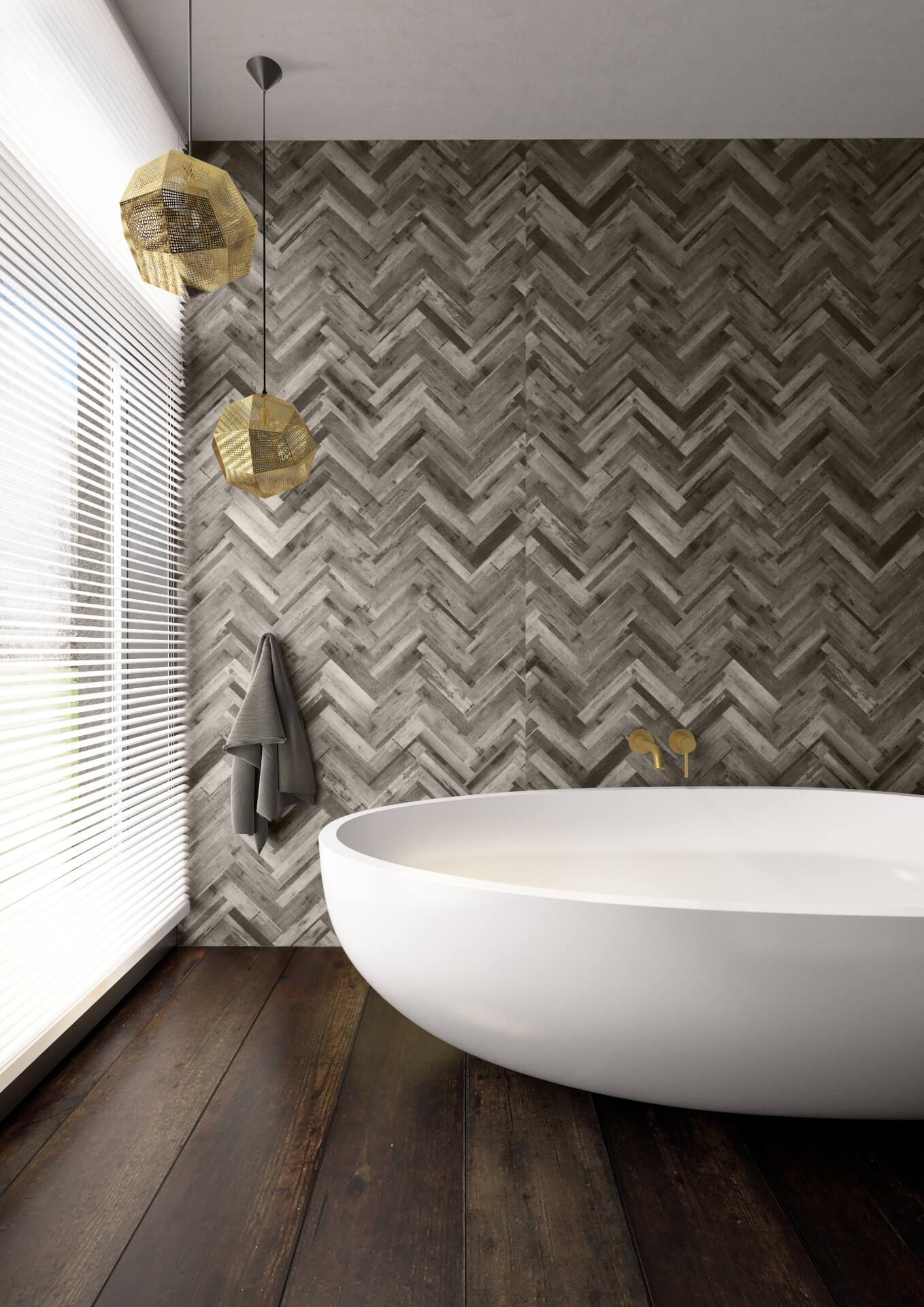 Bushboard Nuance Grey Shower Board
