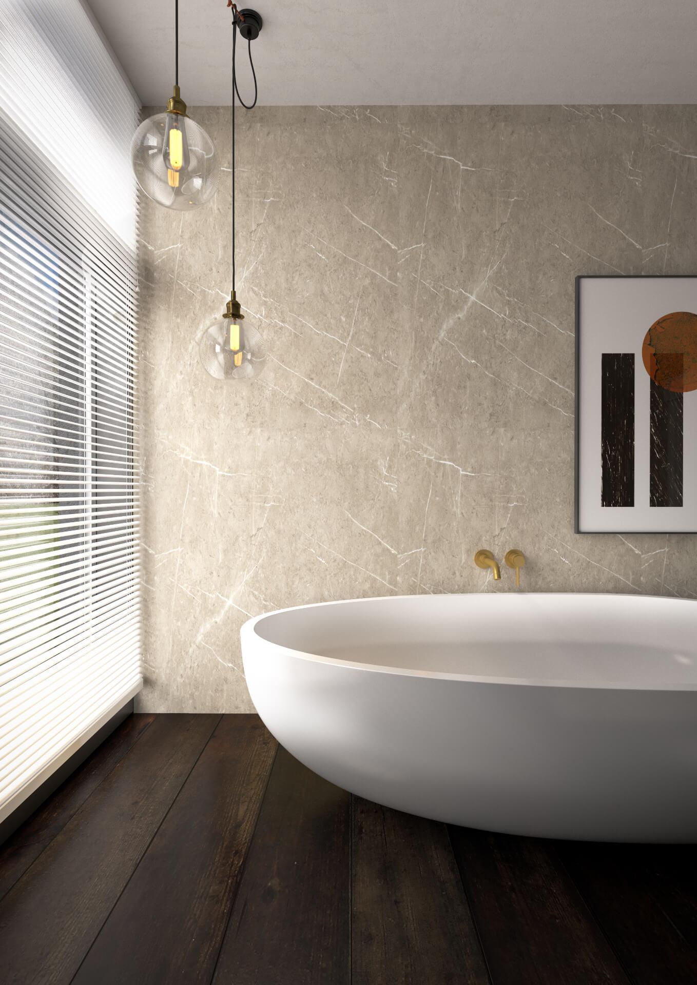 Bushboard Nuance Ivory Shower Board