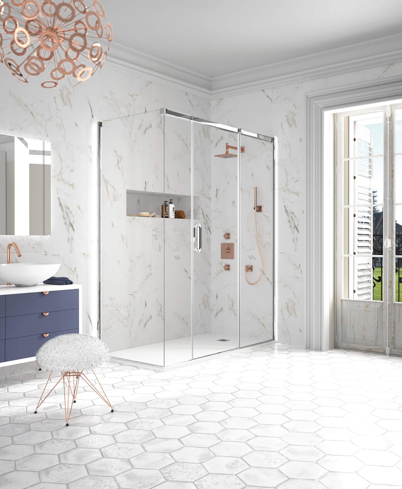 Merlyn Shower Arysto Silver Shower