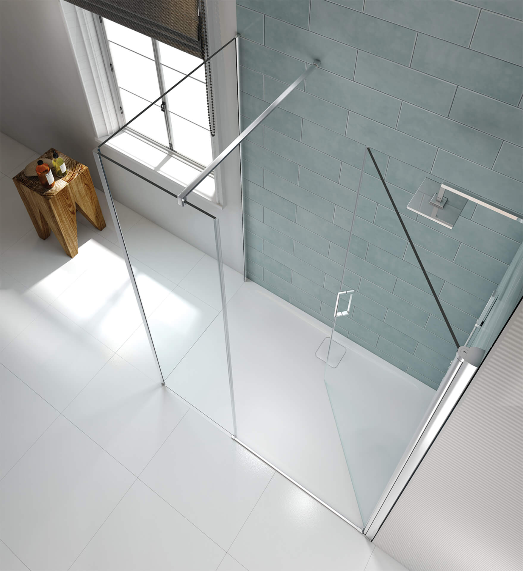 Merlyn Shower Series Collection Silver Shower