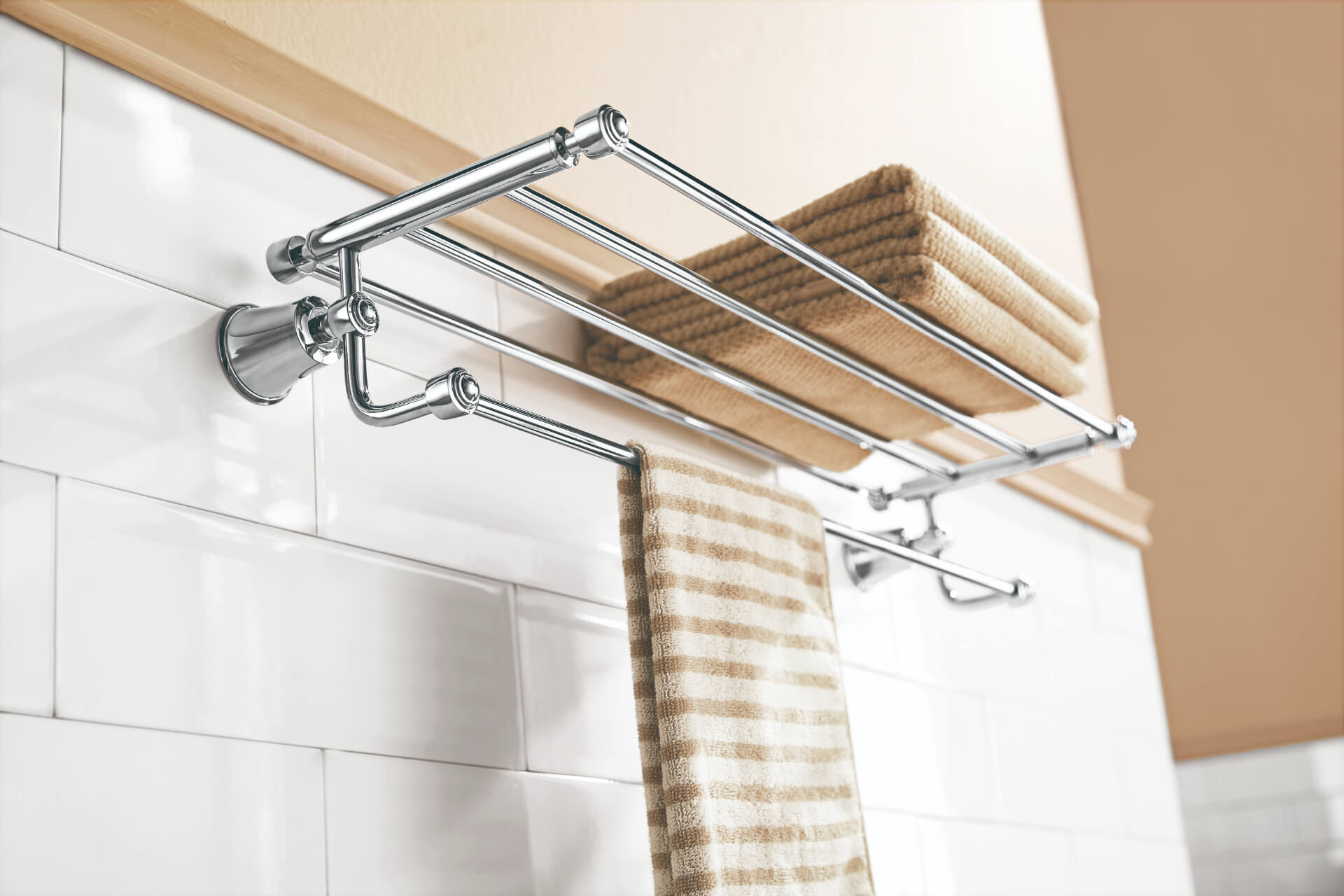 Flova Silver Towel Holder