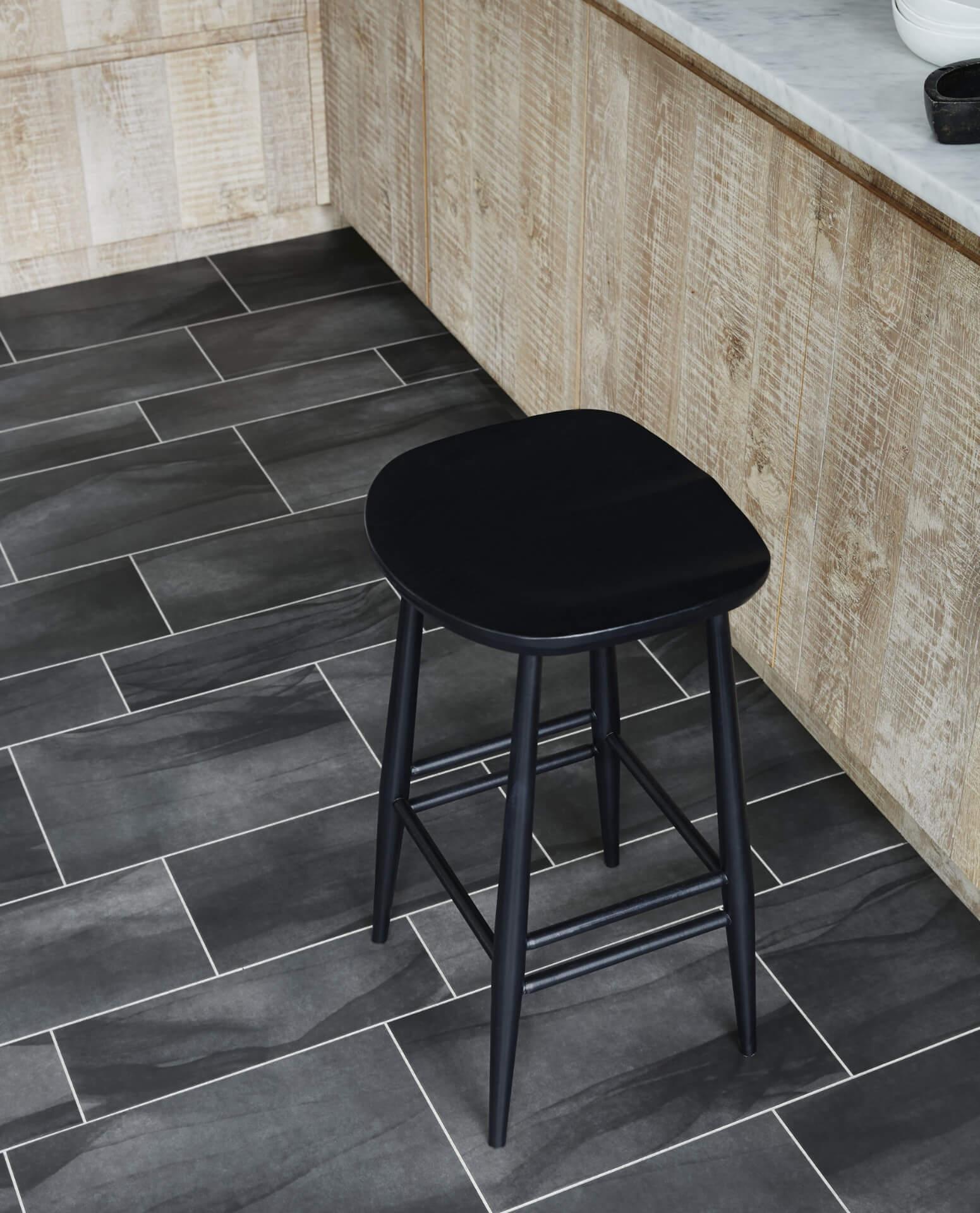 Amtico Signature Black Kitchen Flooring