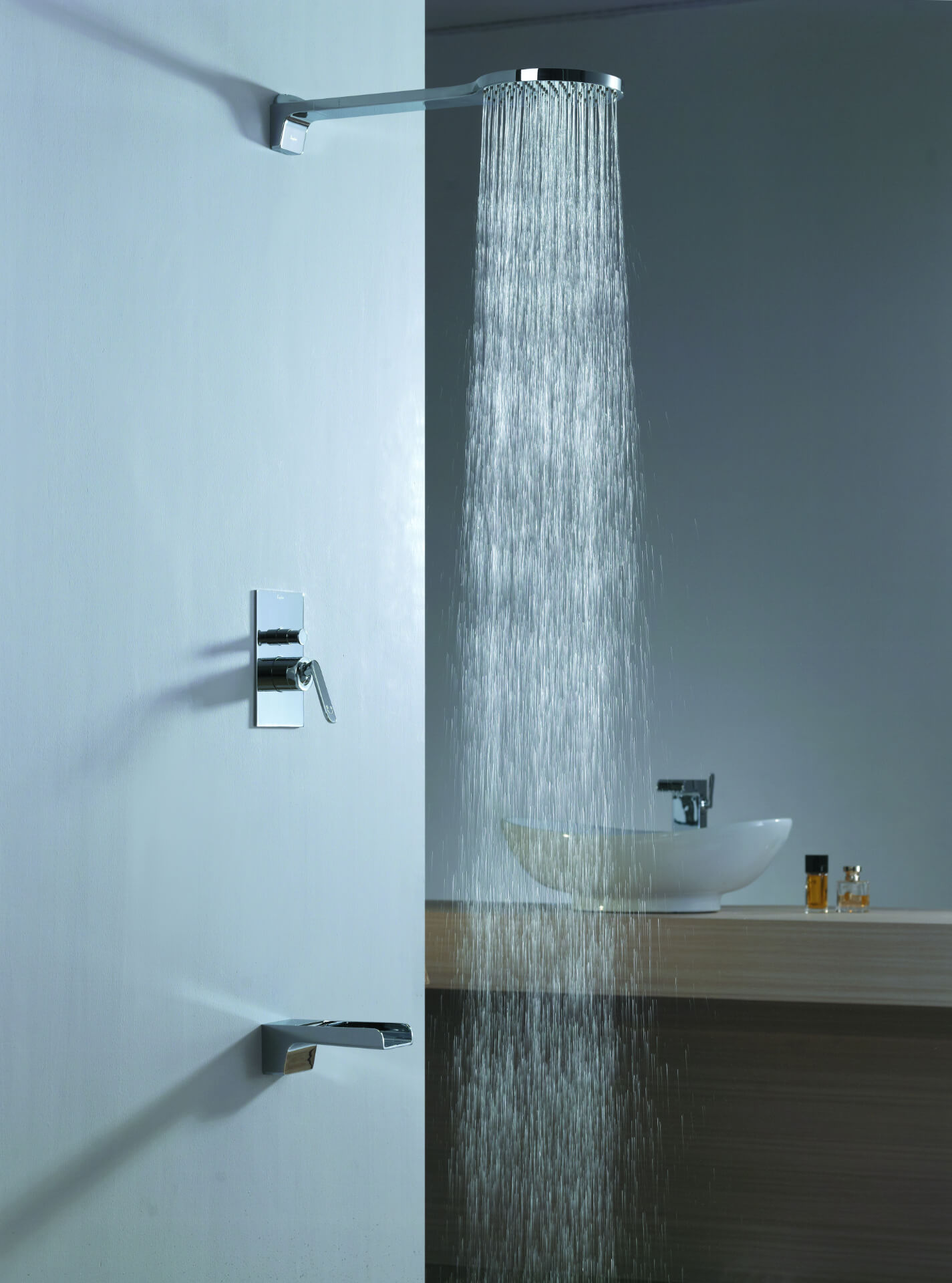 Flova Silver Squared Shower
