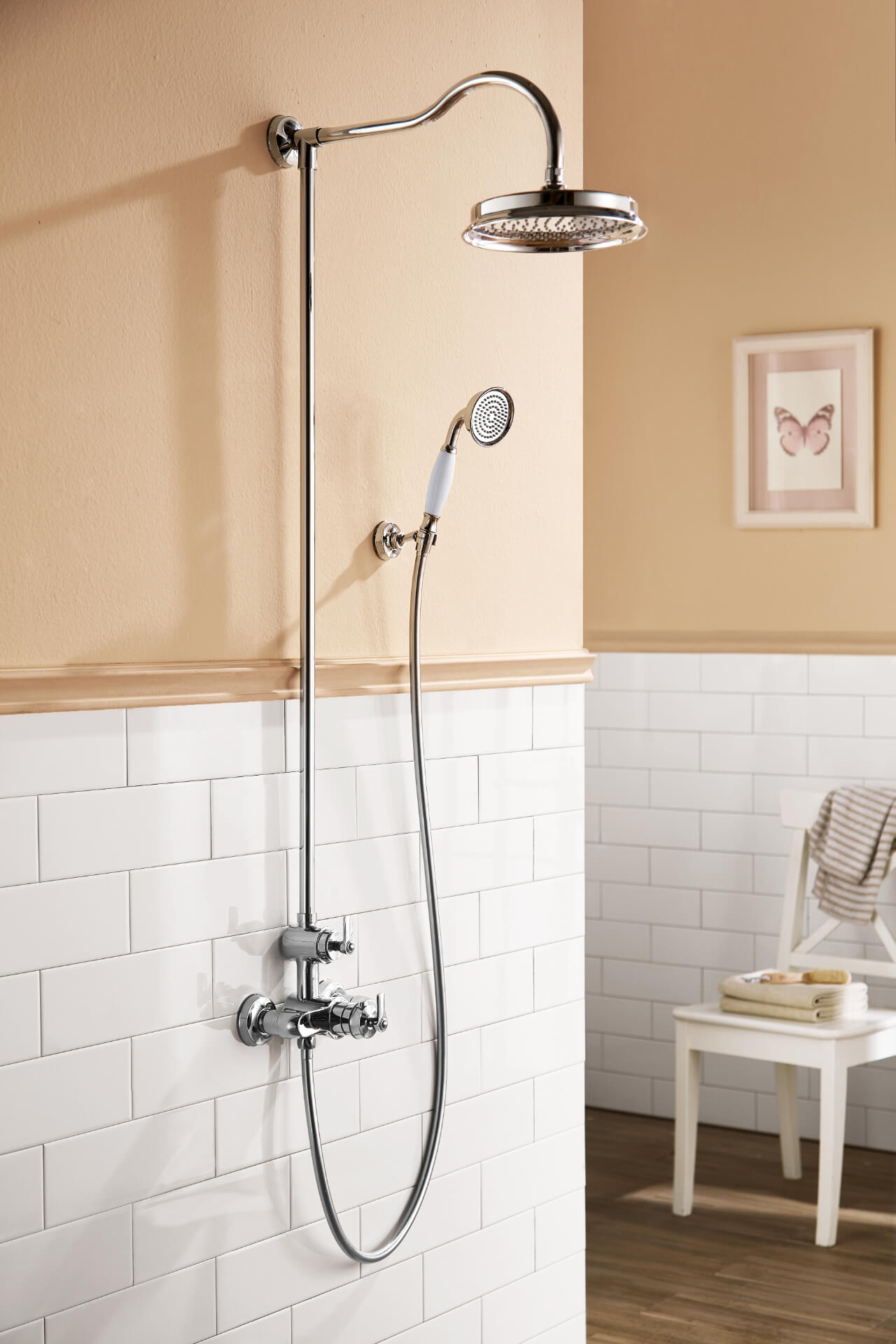 Flova Silver Round Shower