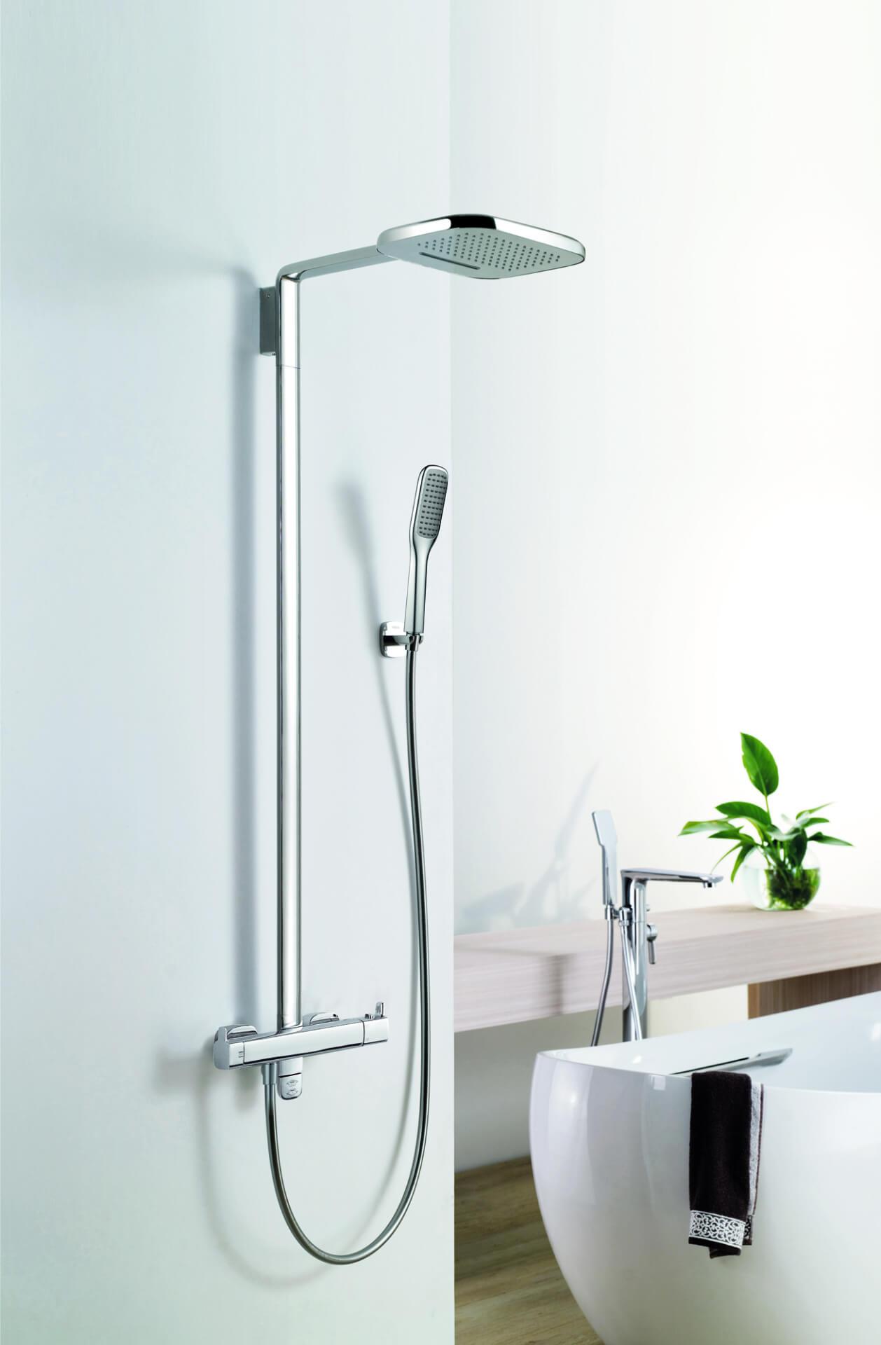 Flova Silver Round Shower