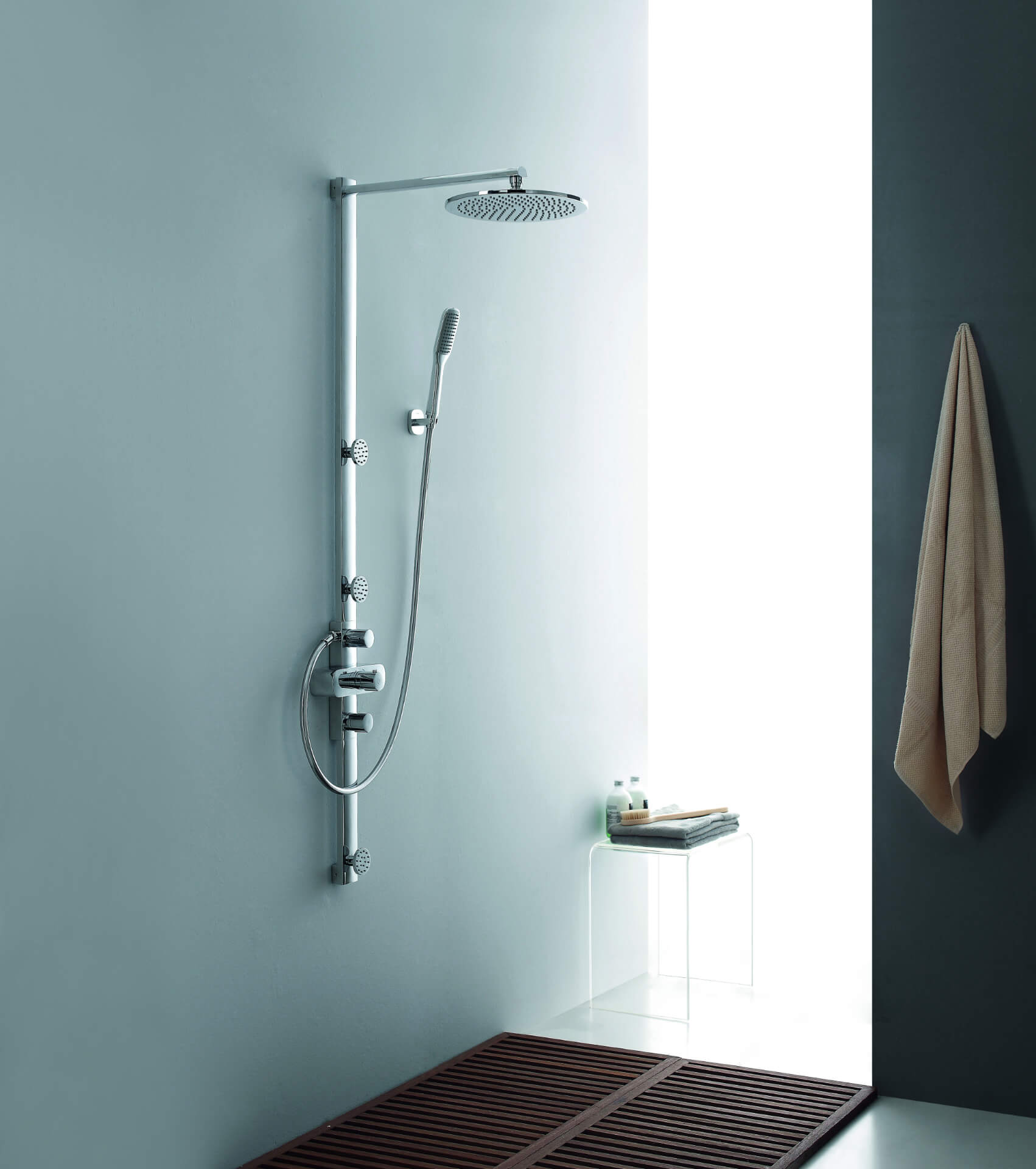 Flova Silver Rain Shower