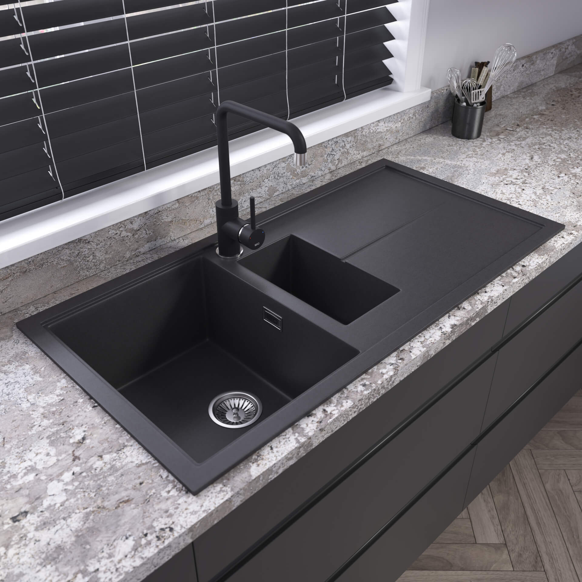 The 1810 Company Black Tap And Sink