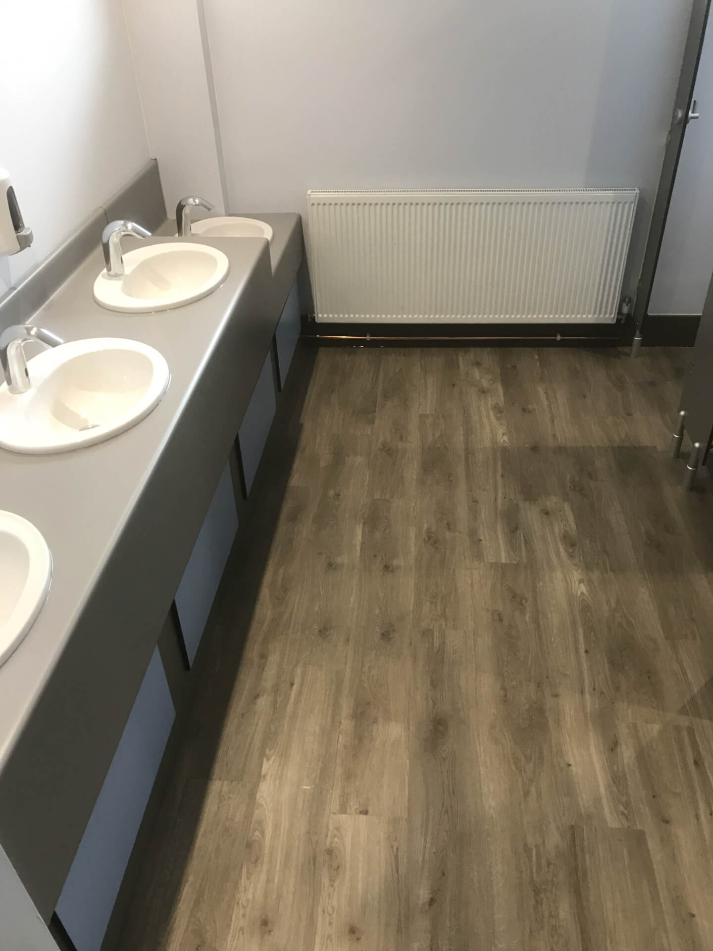 New Wooden Bathroom Flooring