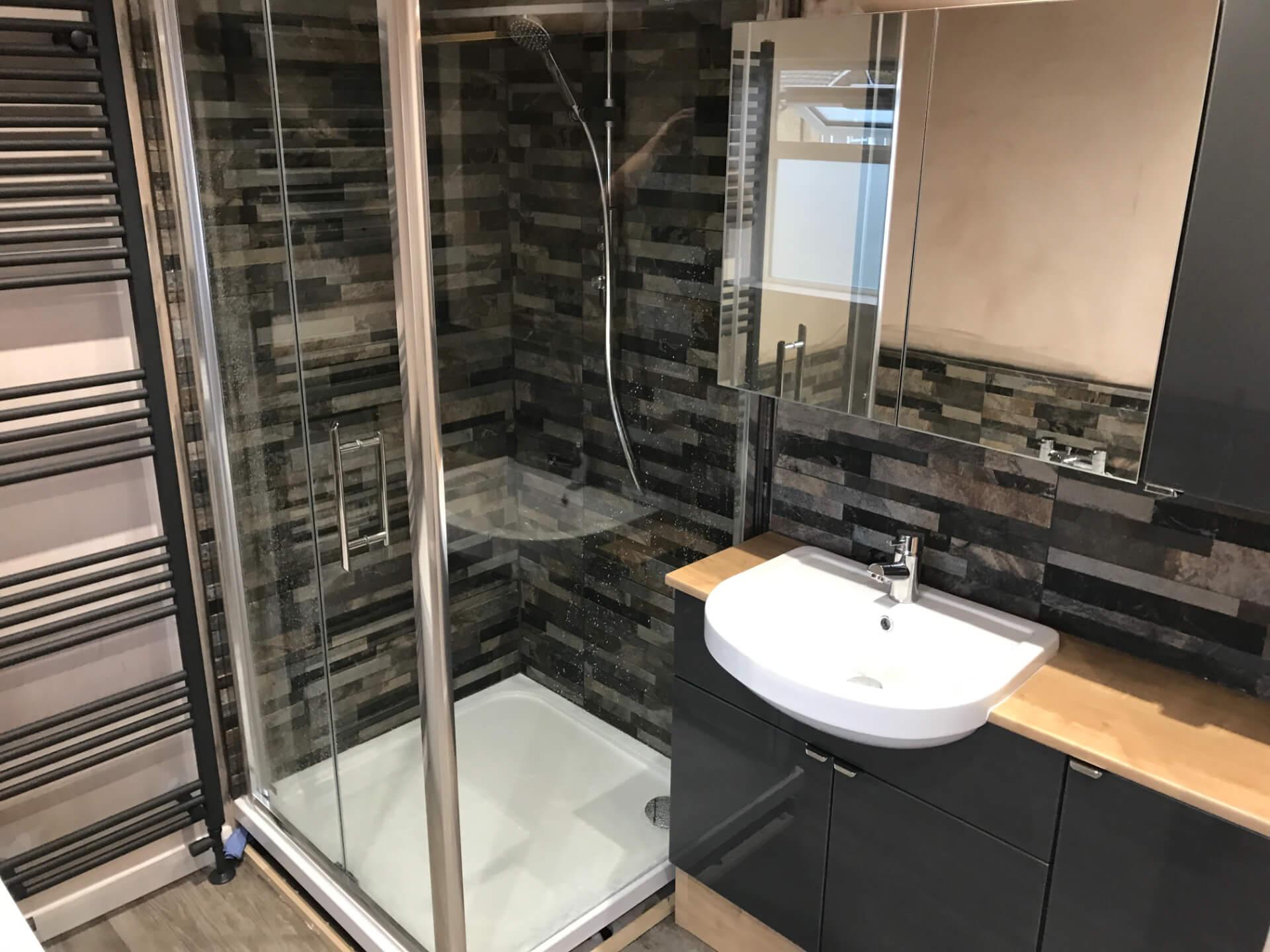 New Modern Grey Bathroom