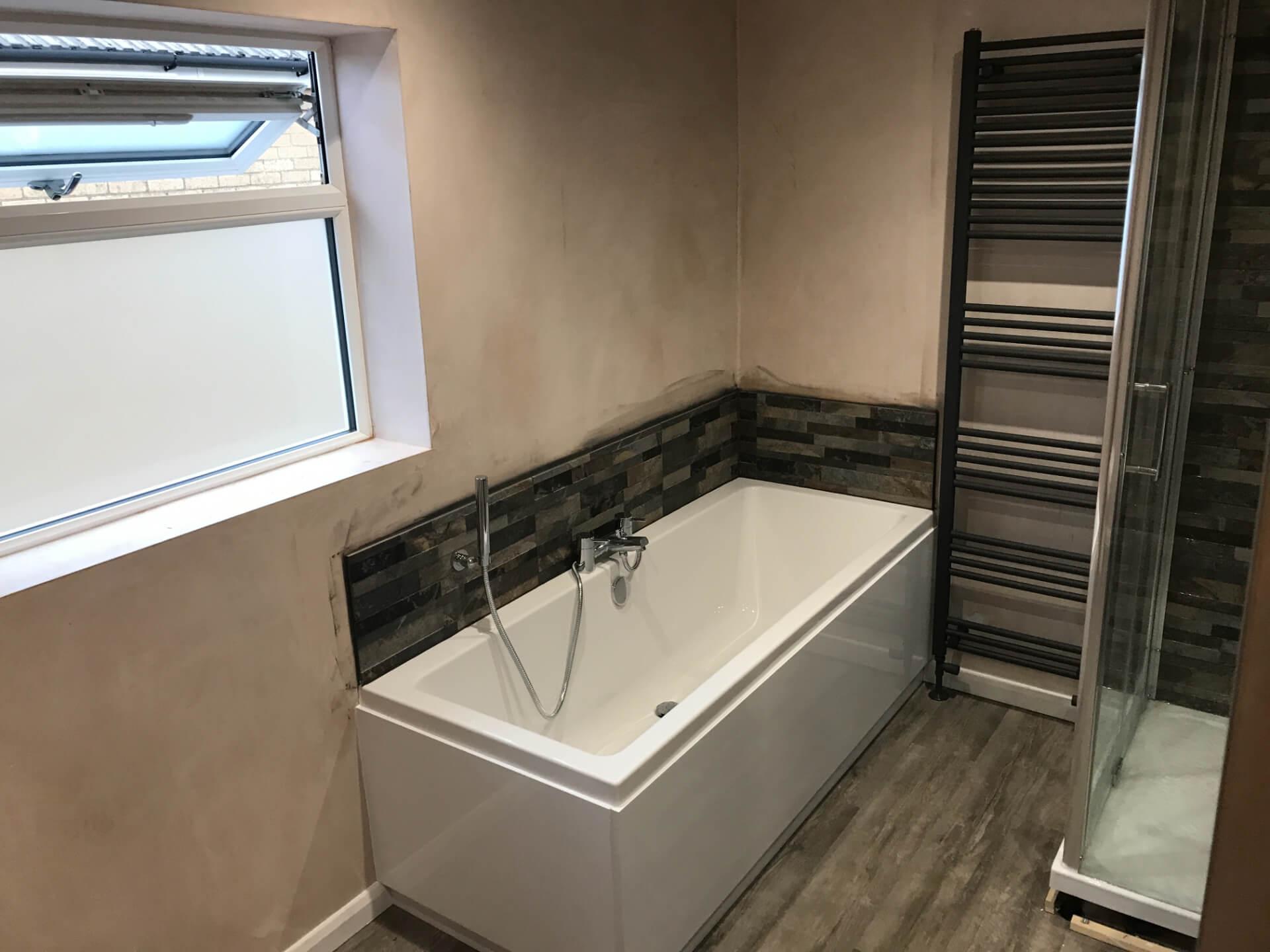 New White Bathtub
