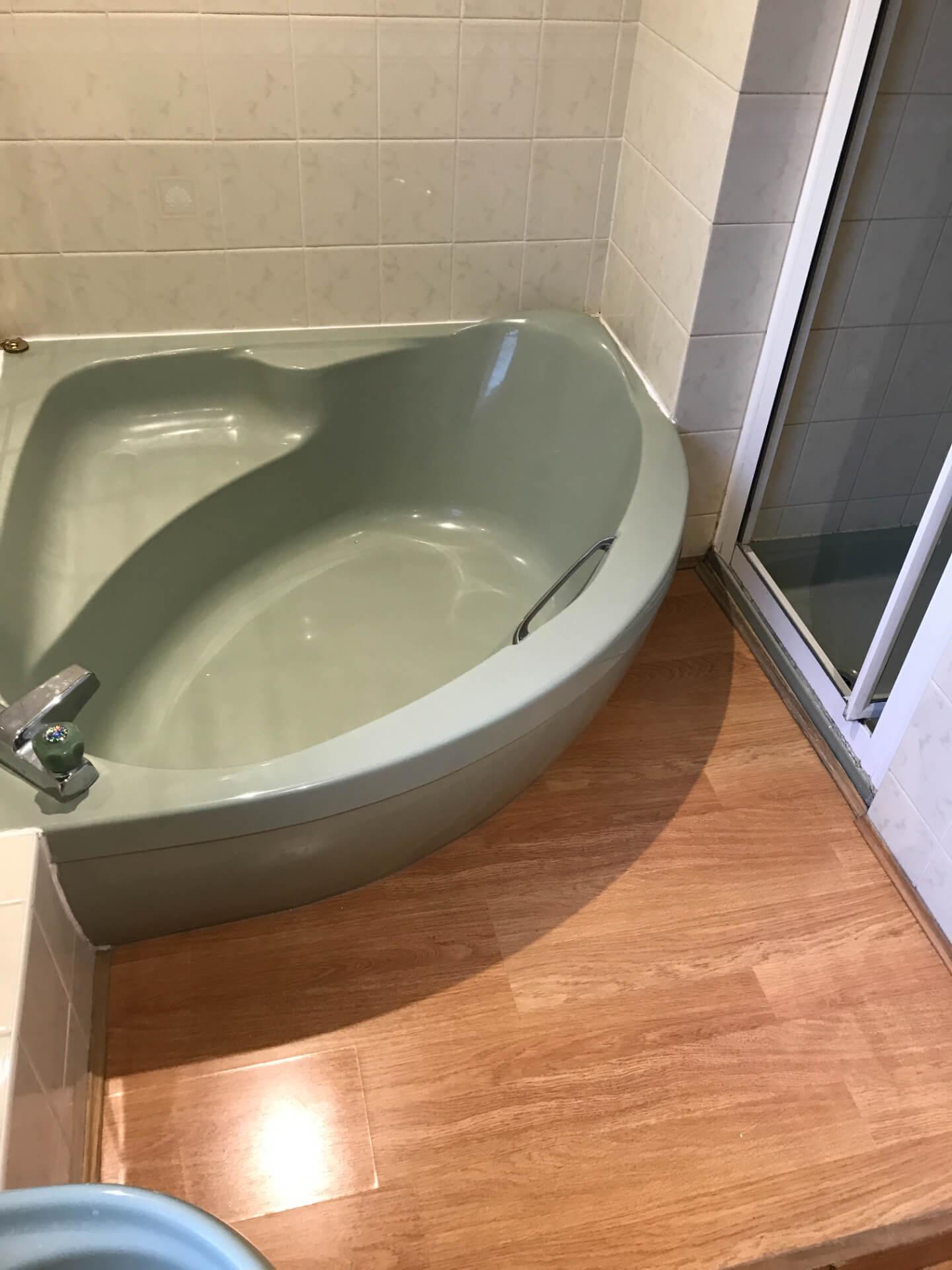 Old Mint Green Bathtub