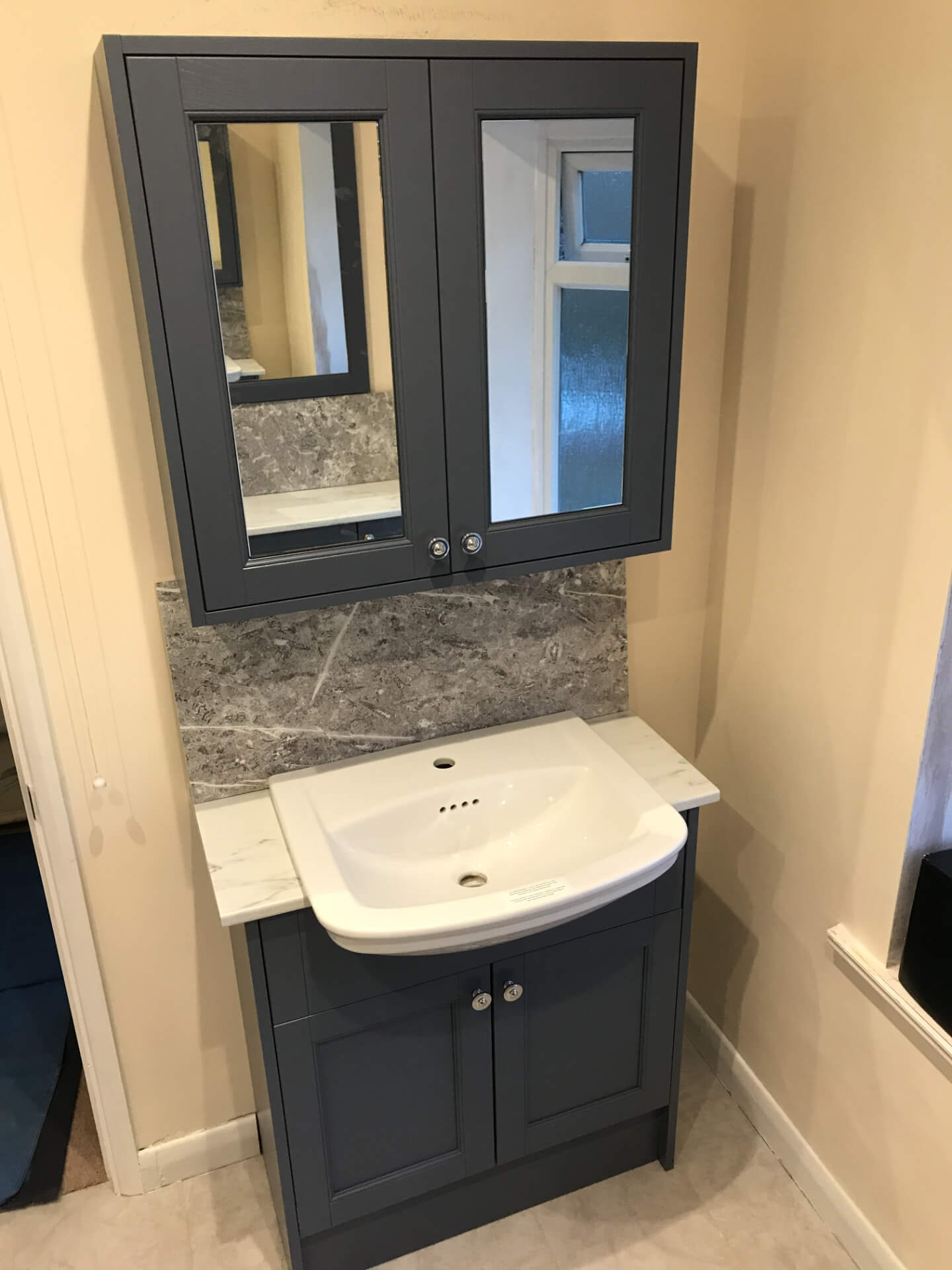 New Sink Unit Installing