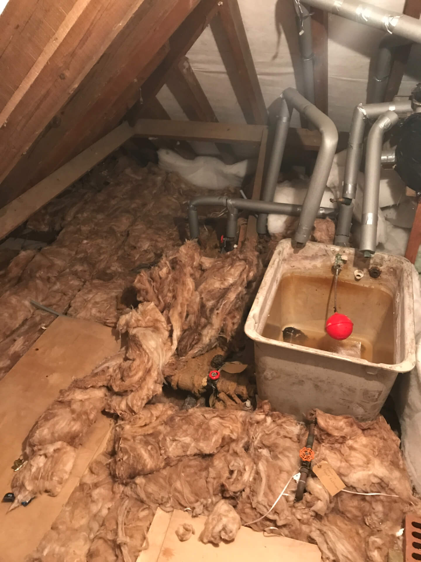 Bathroom Pipe Installing