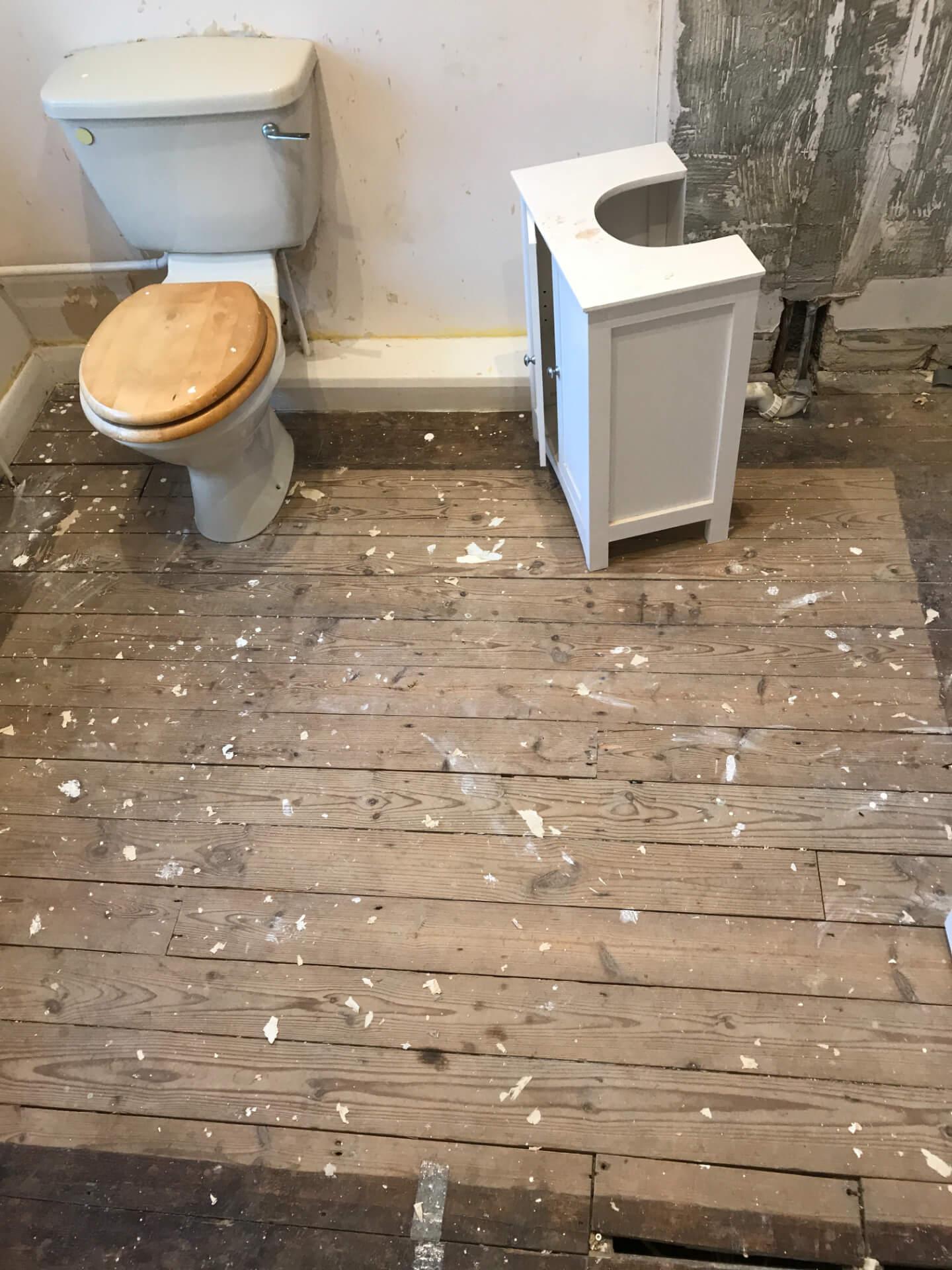 Bathroom Floor Reconstructing